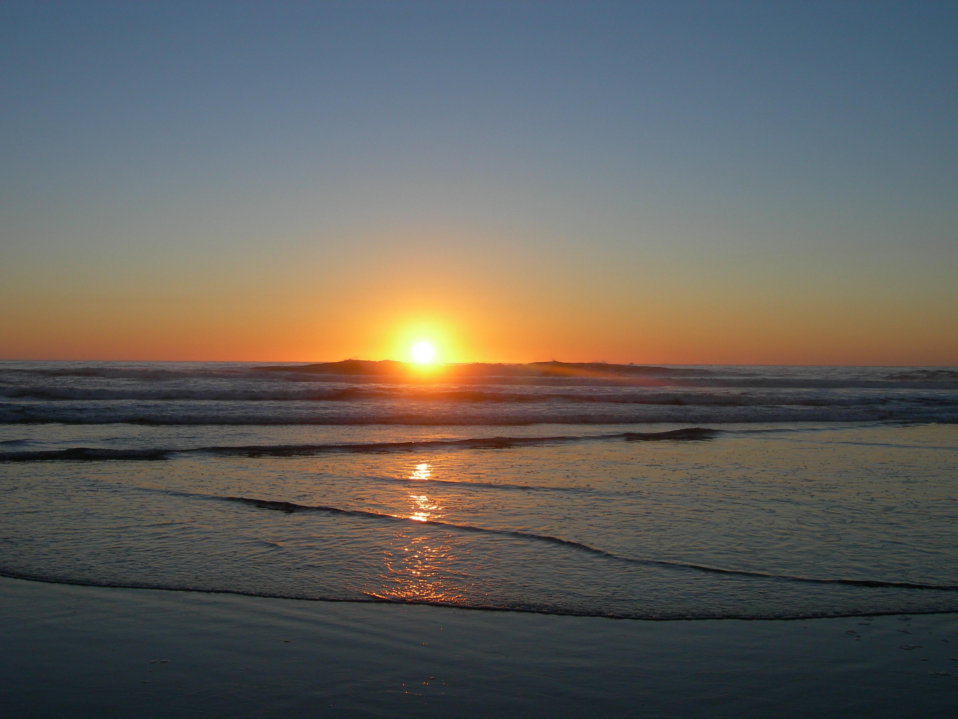 Pacific sunset photo