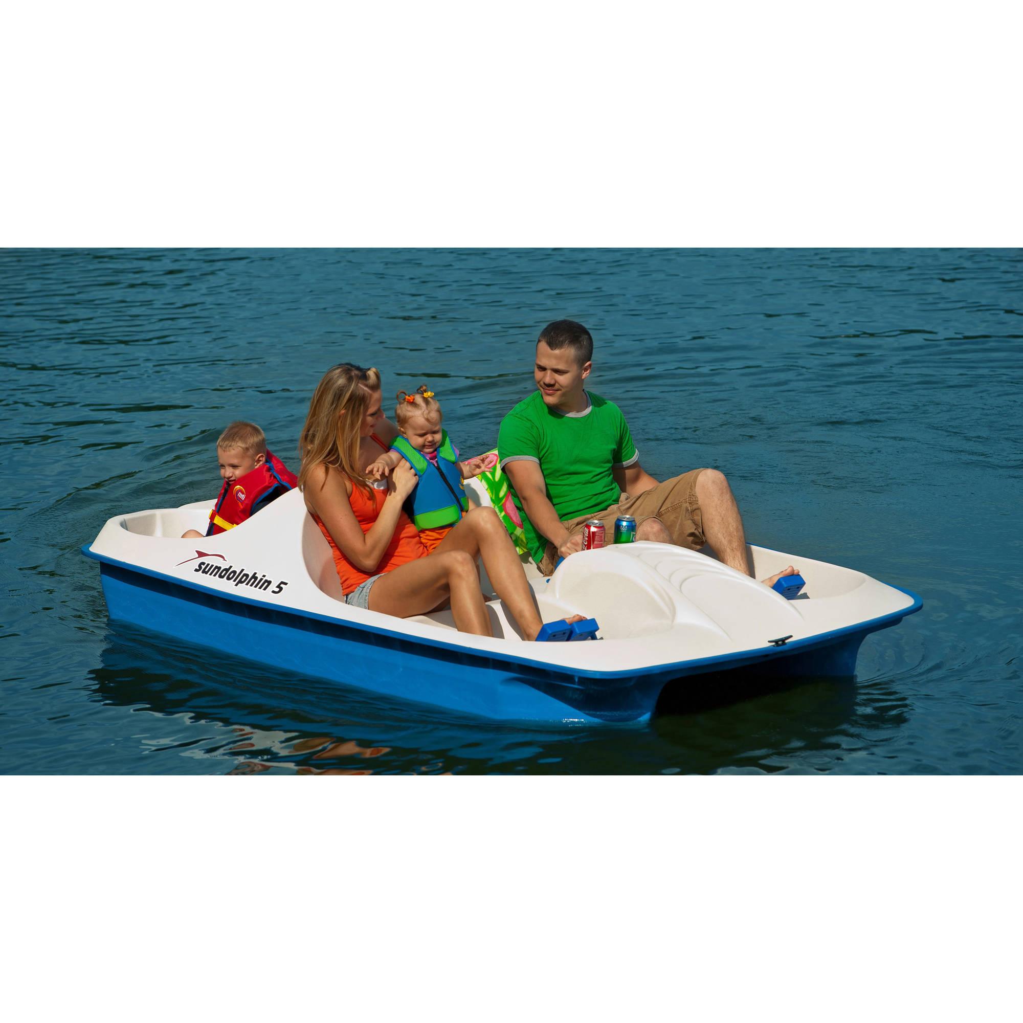 Sun Dolphin 5 Seat Pedal Boat - Walmart.com