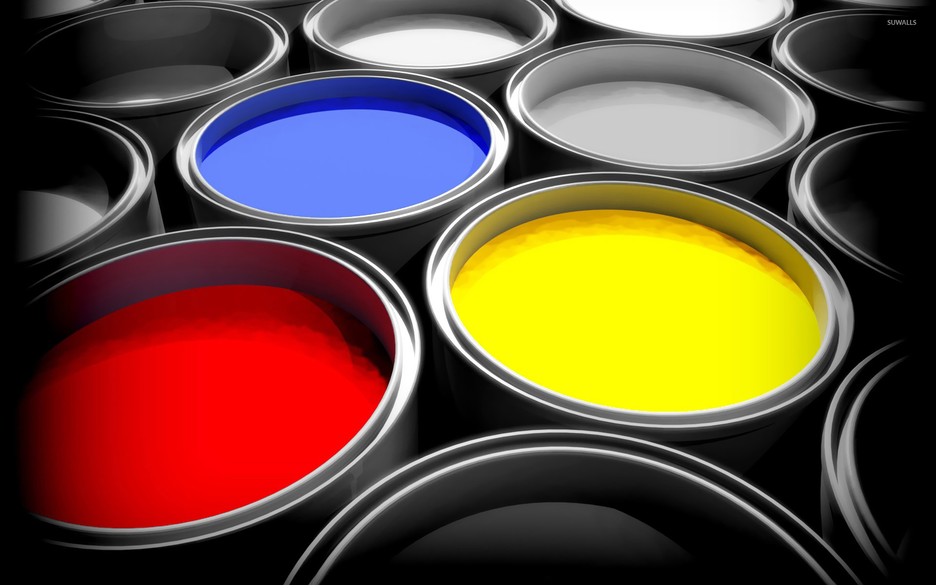 Paint buckets wallpaper - Photography wallpapers - #18963