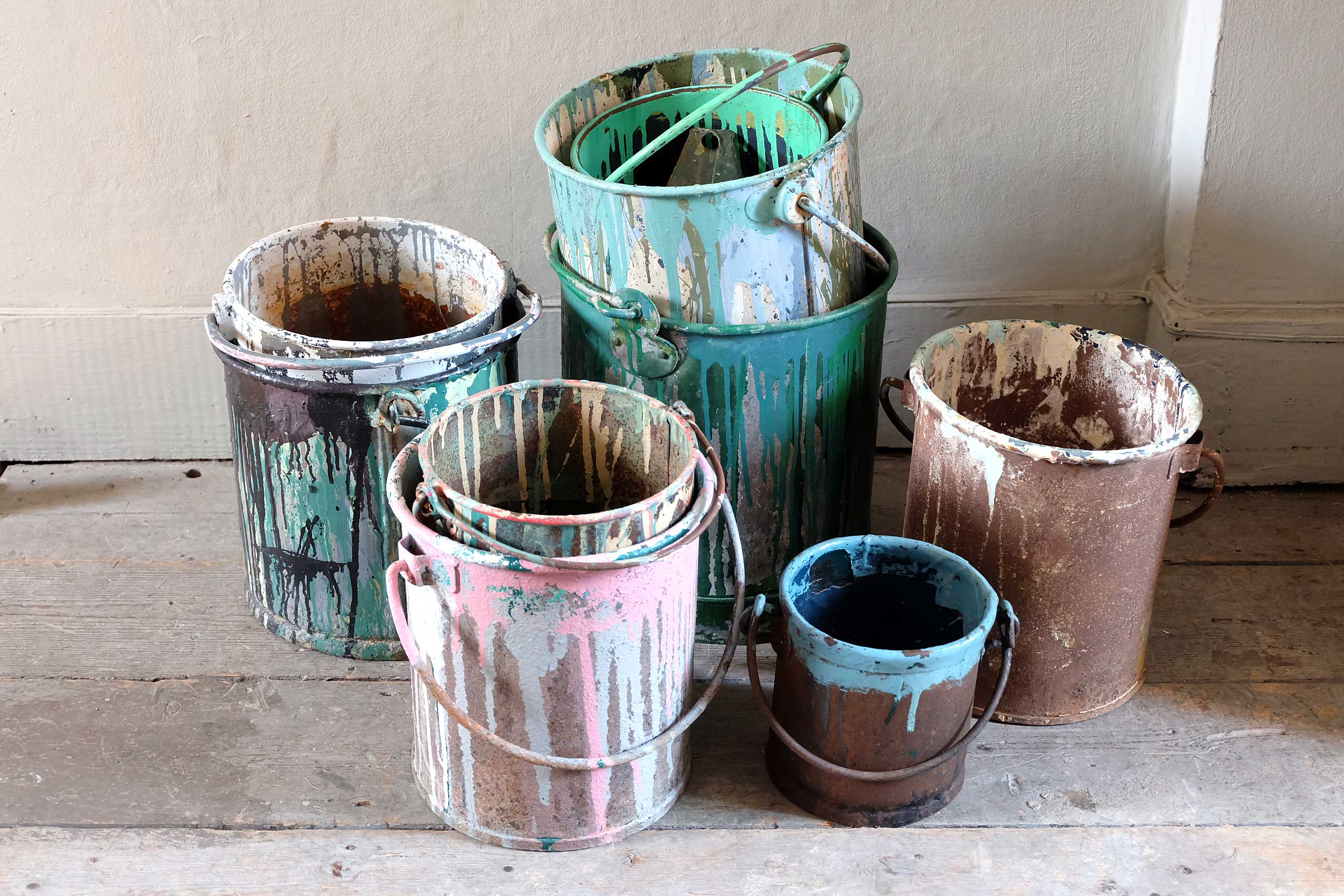 Vintage Paint Buckets › Puckhaber Decorative Antiques › specialists ...
