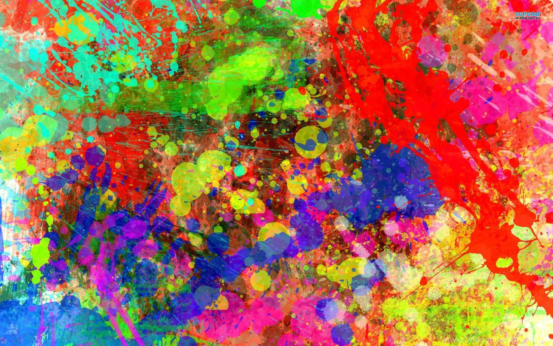 Paint Splatter Wallpapers Desktop Background