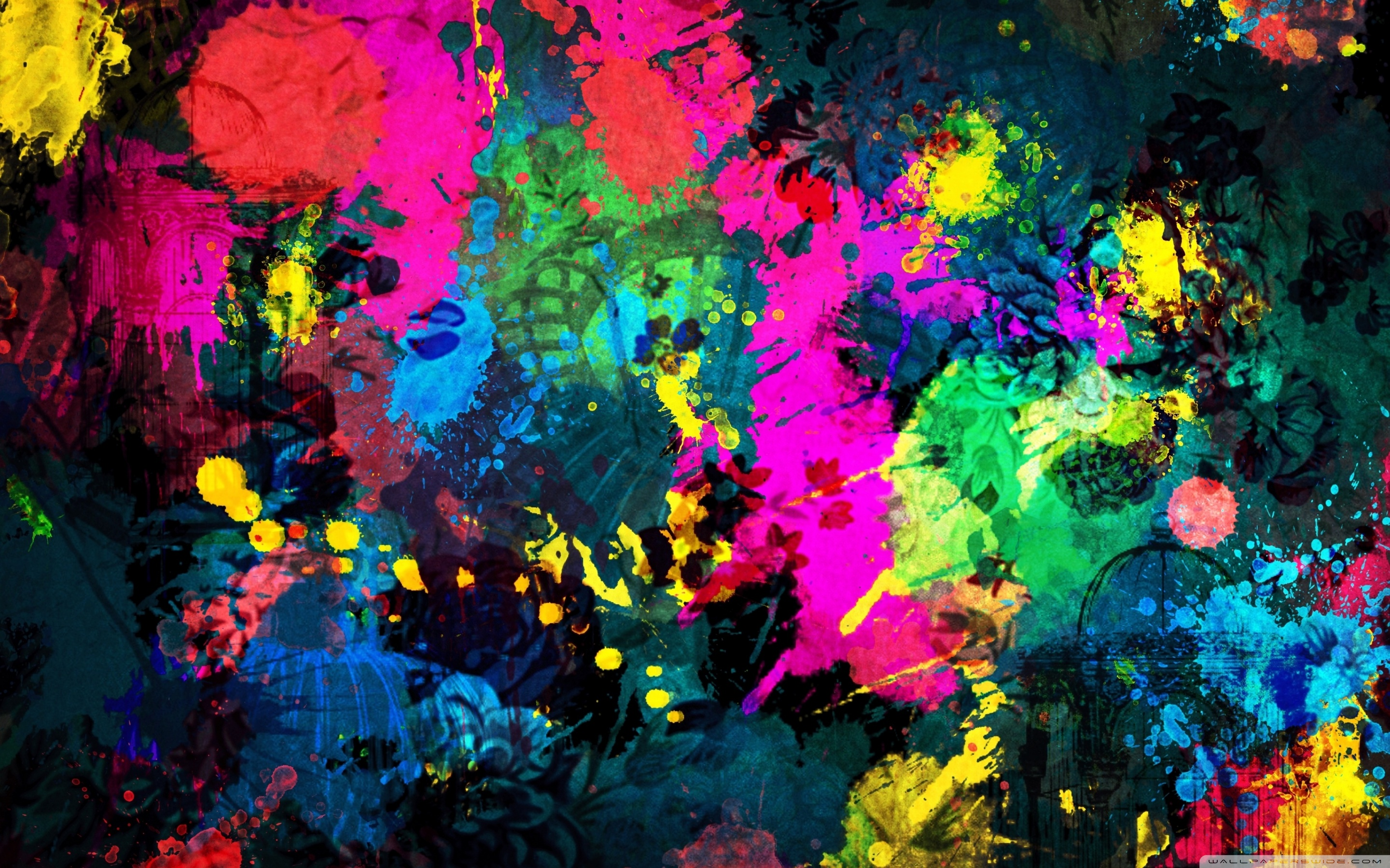 Colorful Paint Splatter ❤ 4K HD Desktop Wallpaper for 4K Ultra HD ...