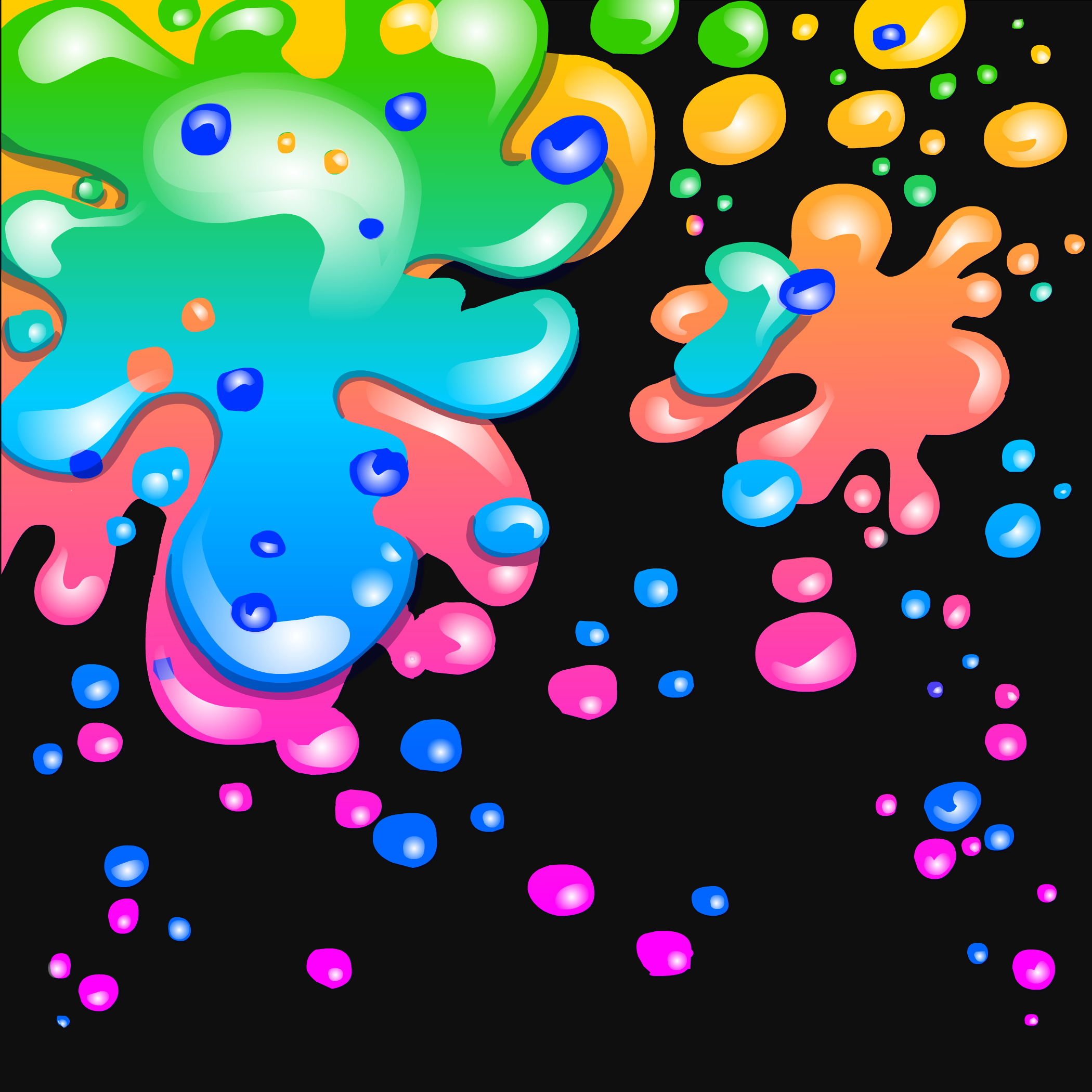 Neon Paint Splatter Background | Club Penguin Wiki | FANDOM powered ...