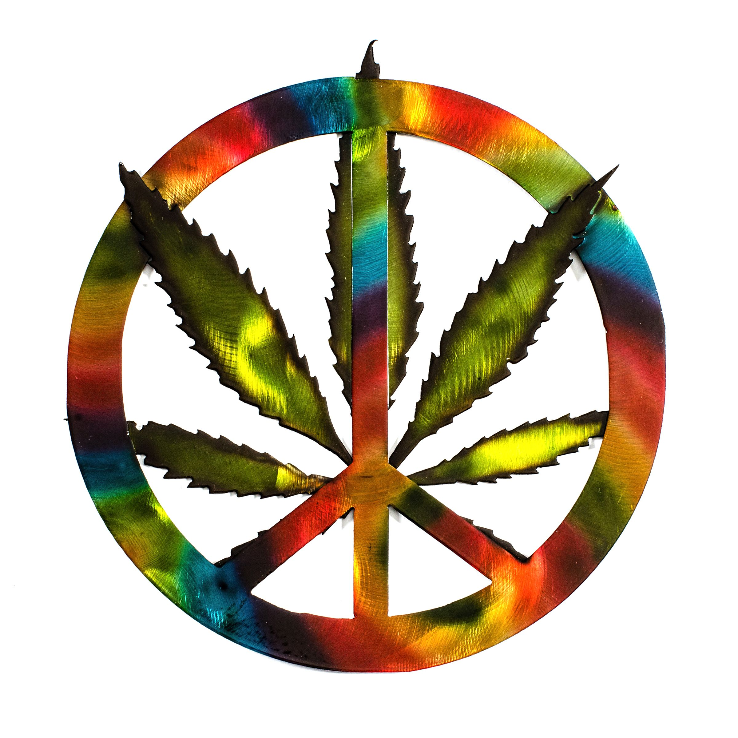 Painted peace sign photo