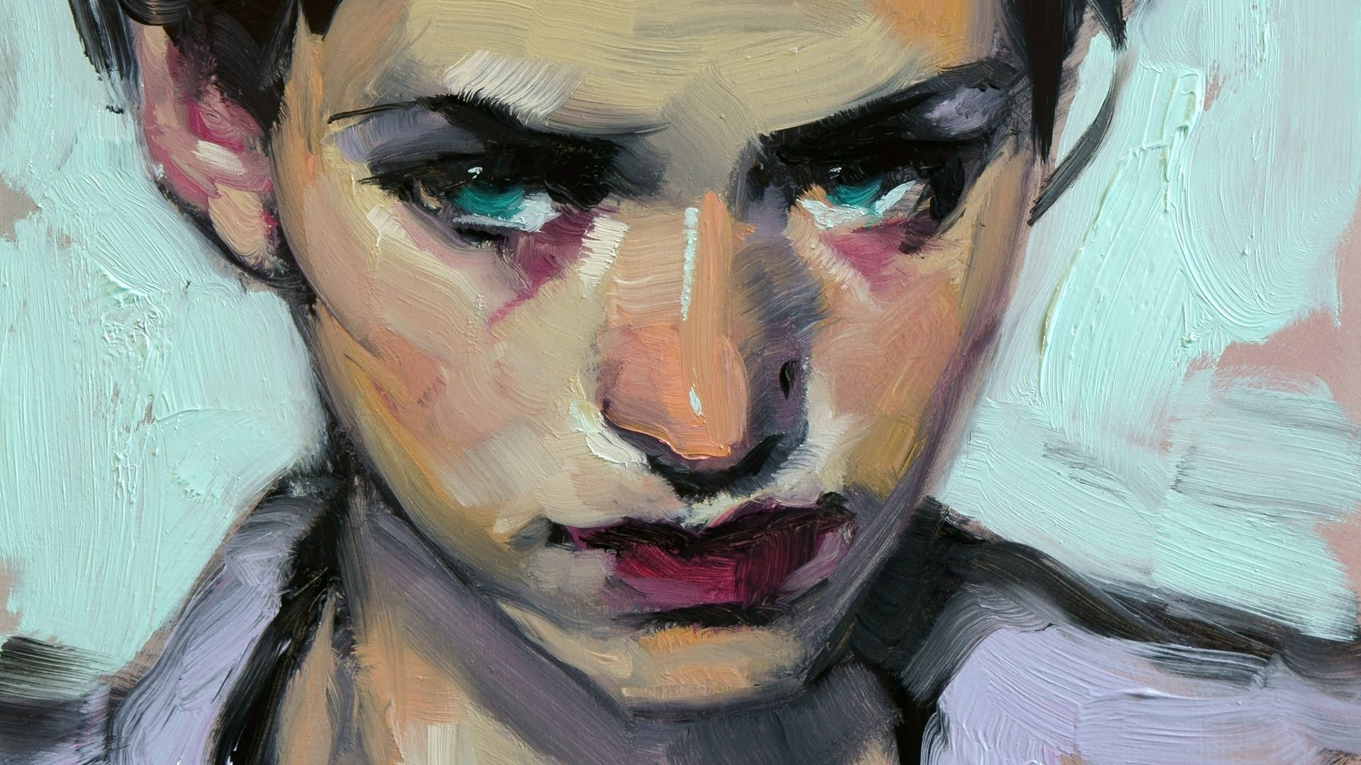 Painting a Portrait: Sabine - YouTube