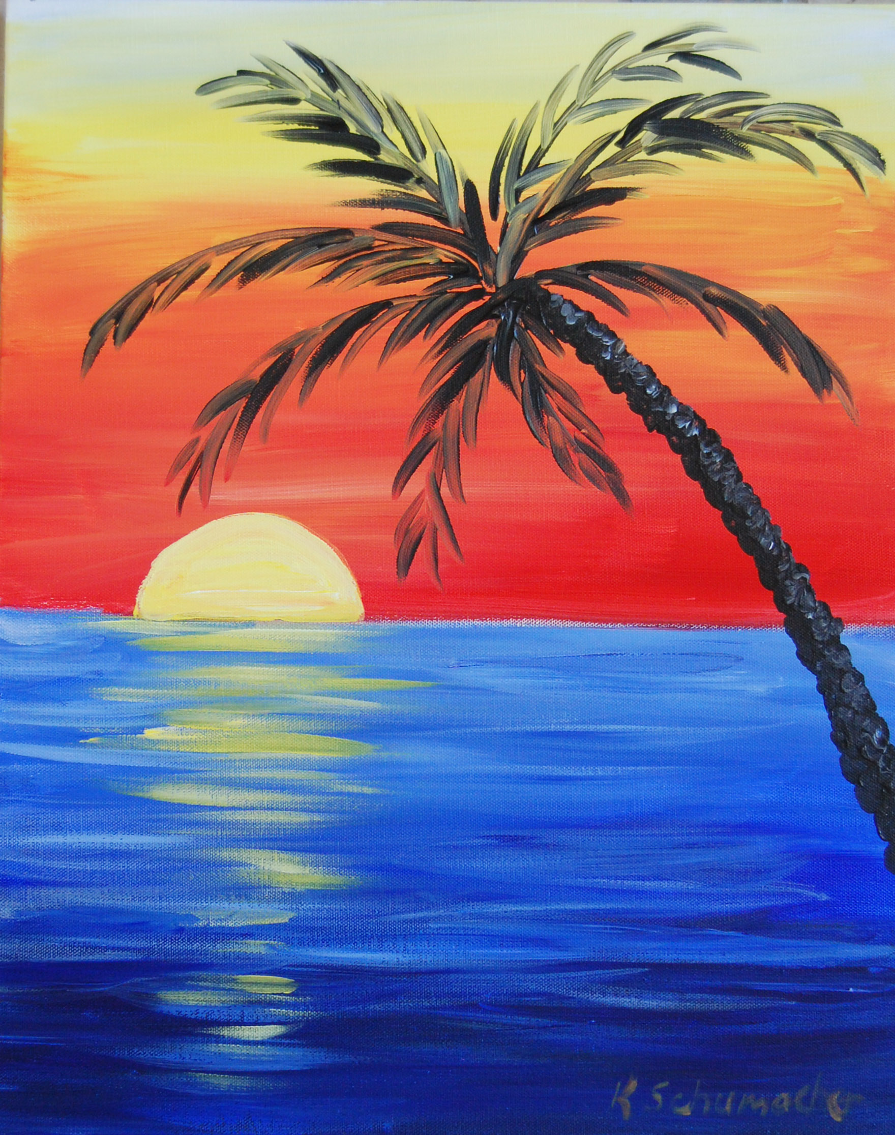 Tropical Sunset Painting Party Thursday Nov 10th @6:30pm in Niceville