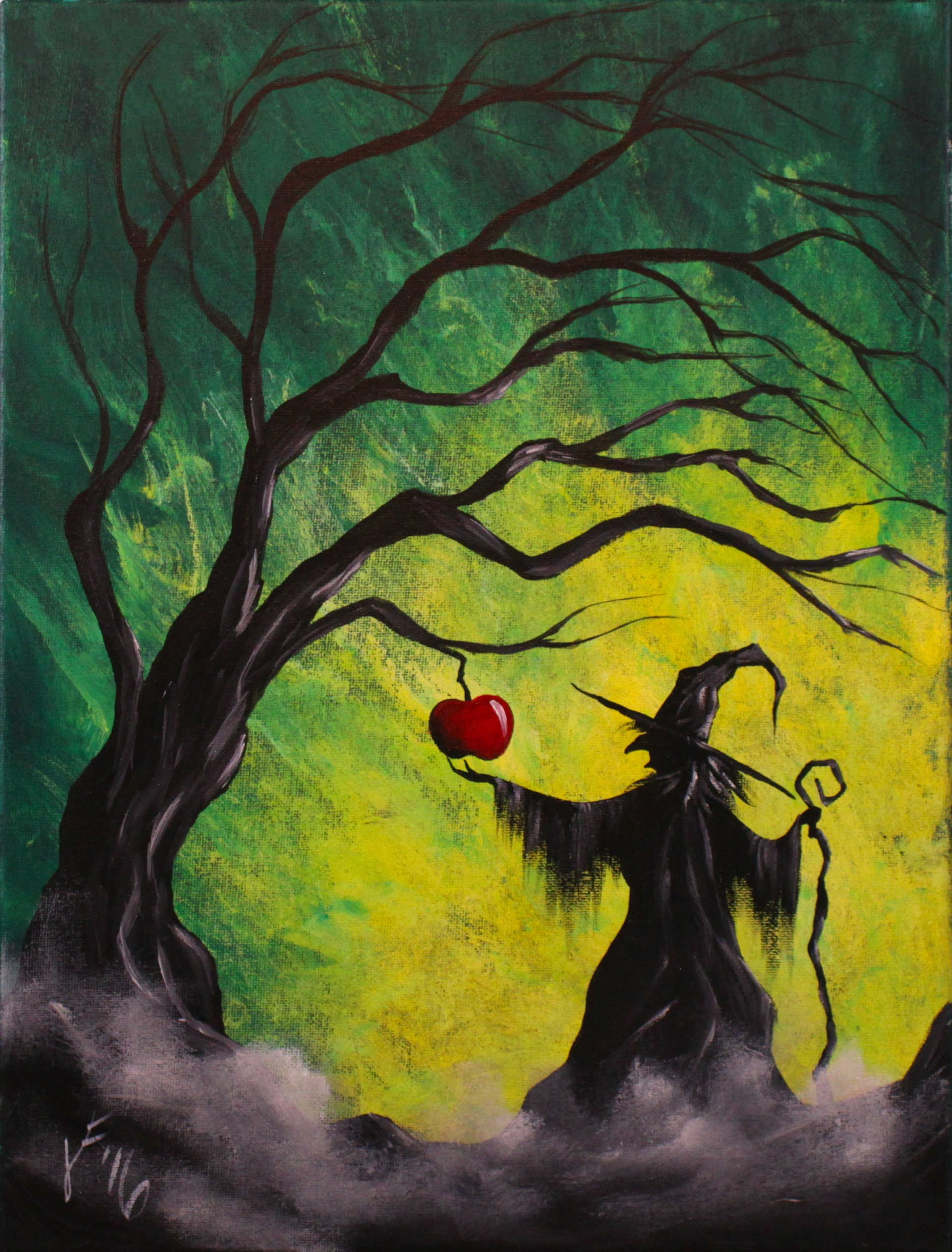 Enchanted Apple Step by Step Acrylic Painting on Canvas for ...