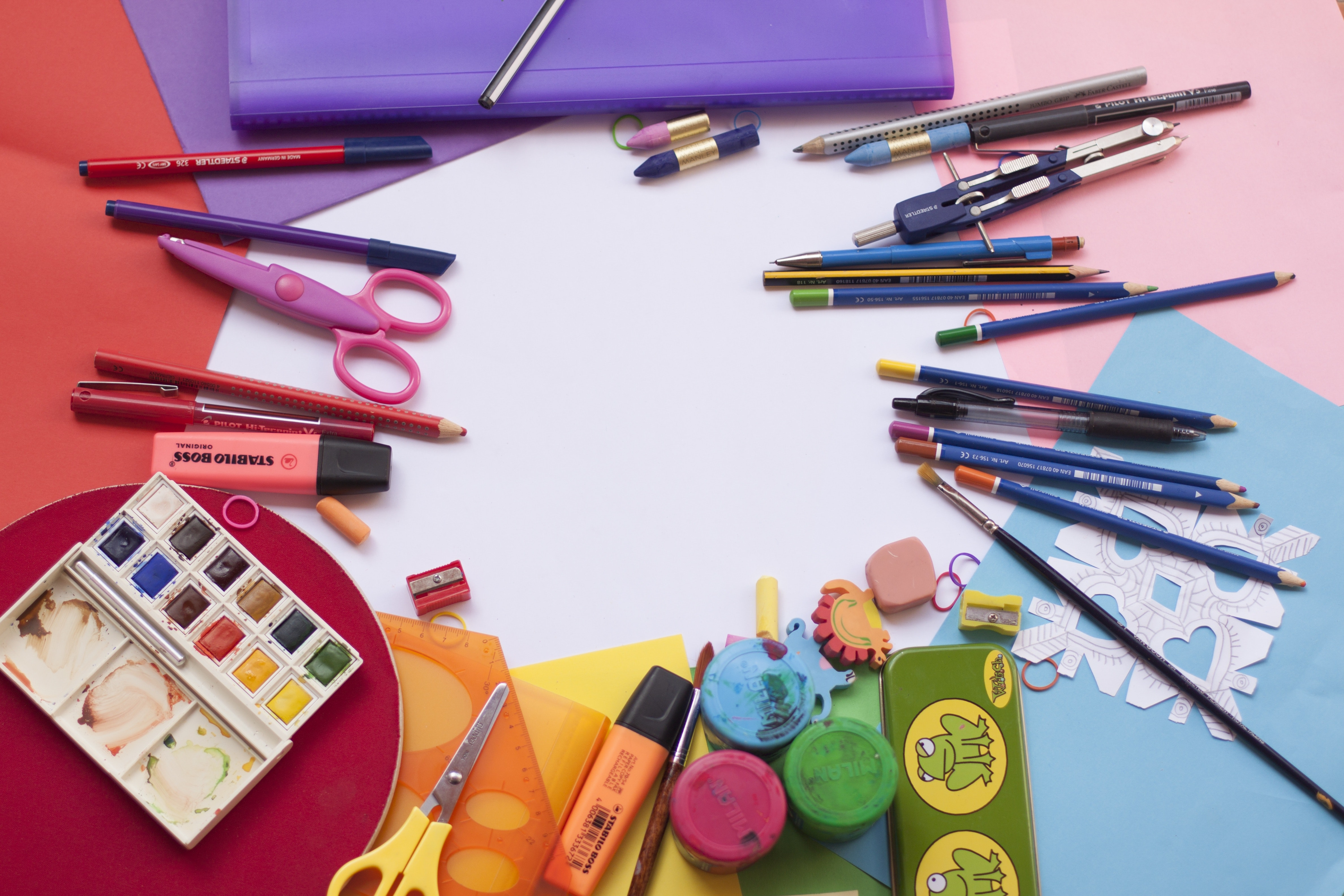 Painting and drawing tools set photo