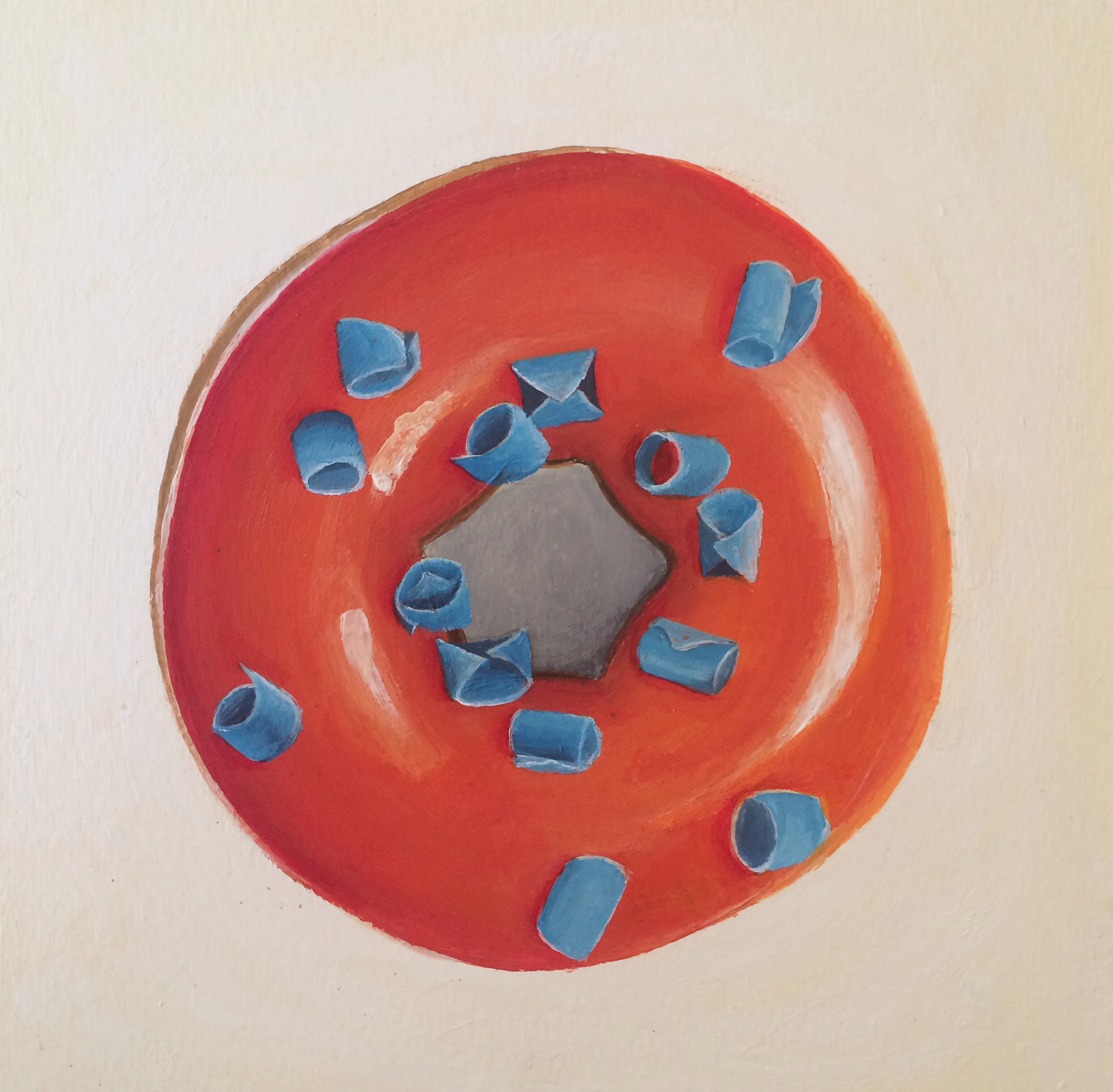 Painting of a donut photo