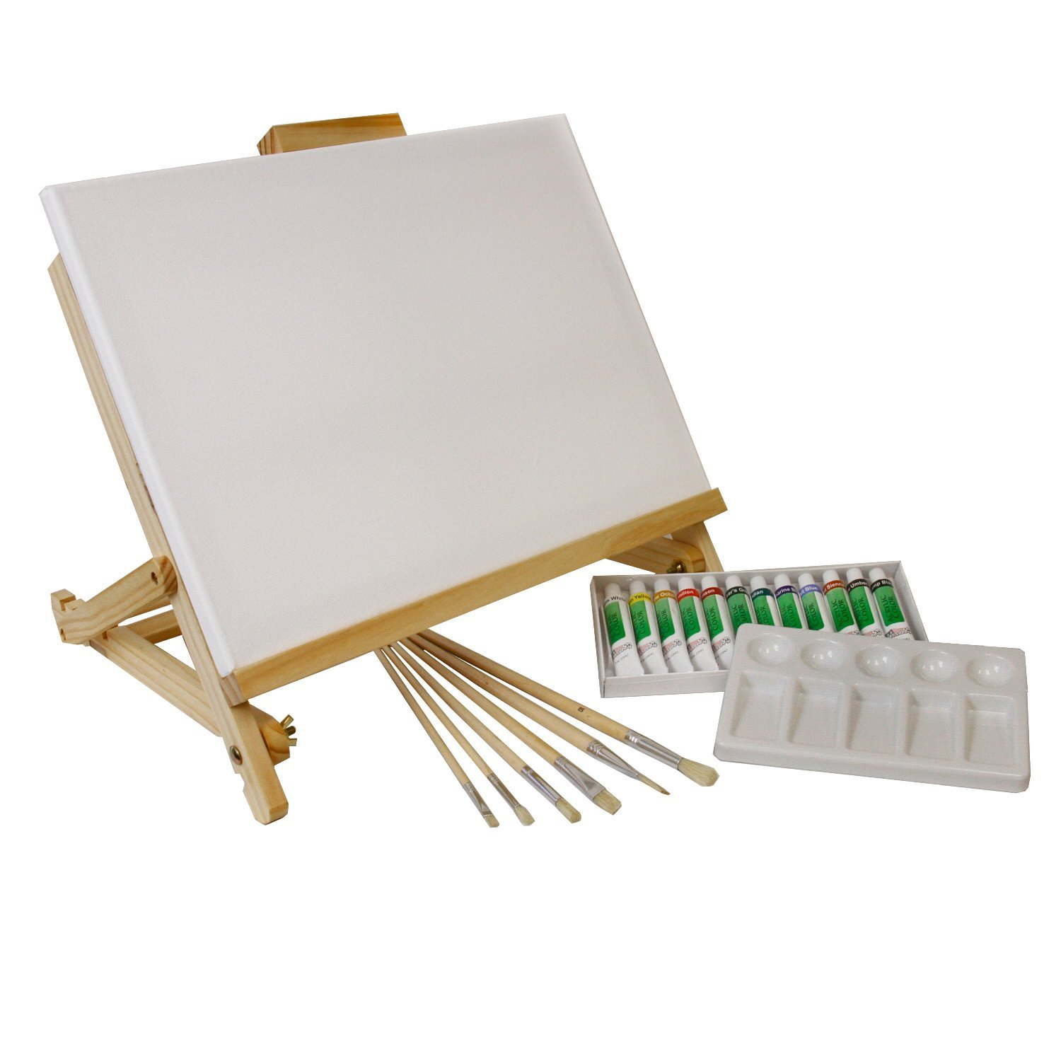 Amazon.com: US Art Supply 21-Piece Acrylic Painting Table Easel Set ...