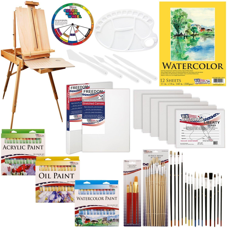 Amazon.com: US ART SUPPLY 121-Piece Custom Artist Painting Kit with ...
