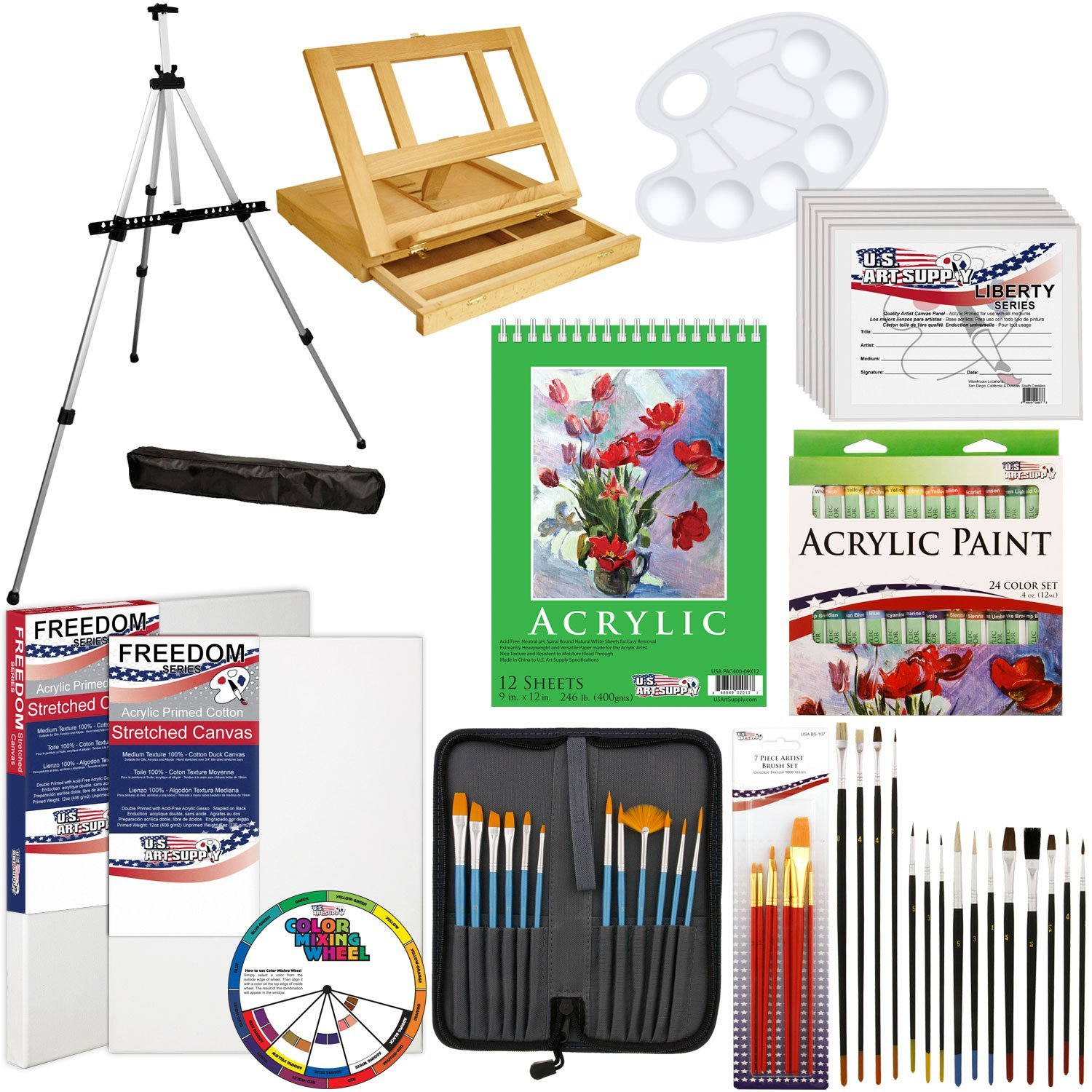 Amazon.com: US Art Supply 72-Piece Deluxe Acrylic Painting Set with ...