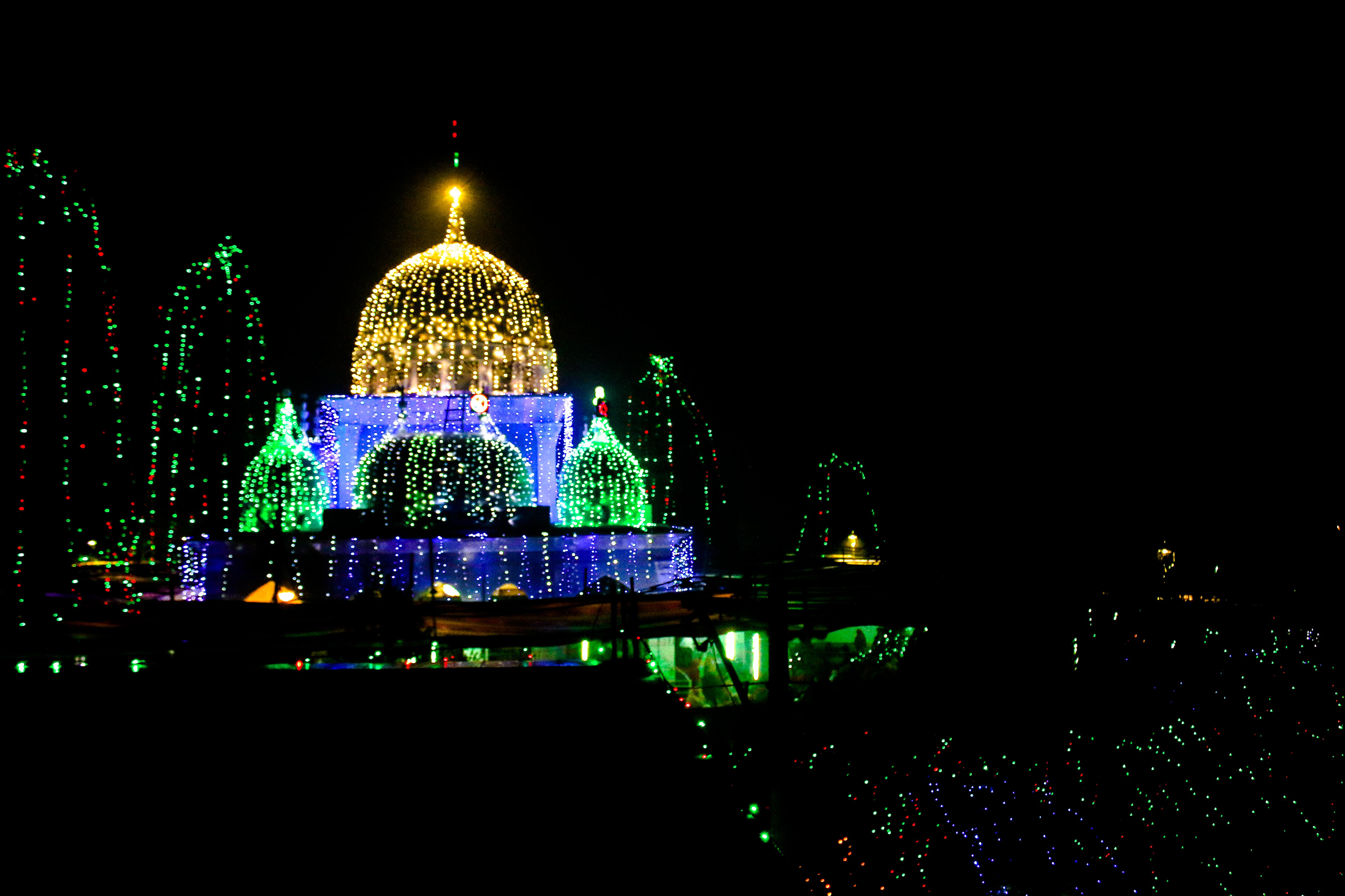 Pak Rawza Sharif-পাক রওজা শরীফ।, Night, Photography, Sharif, Low, HQ Photo