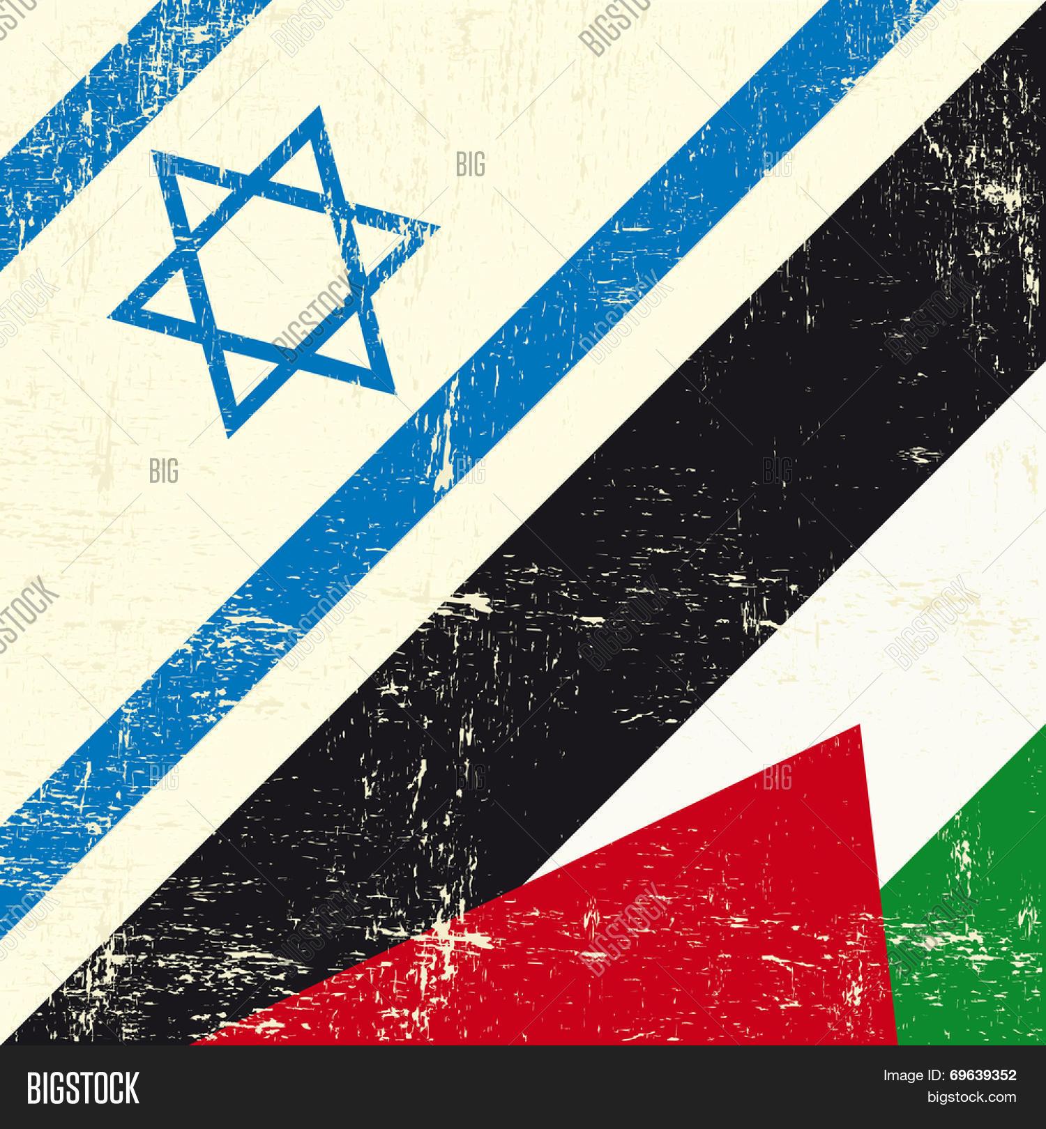 Israeli Palestinian Grunge Flag. Vector & Photo | Bigstock