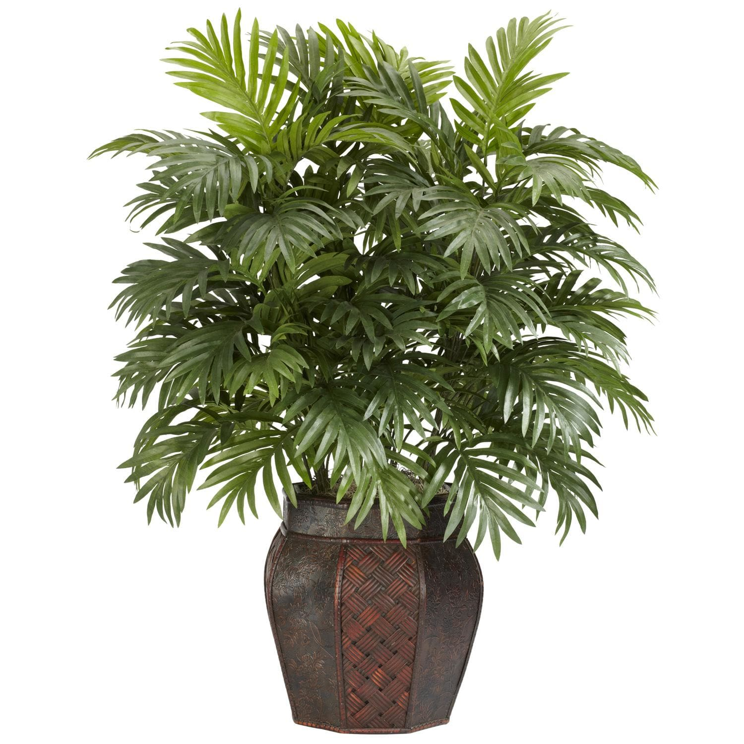 Silk 38-inch Potted Areca Palm Plant - Free Shipping Today ...