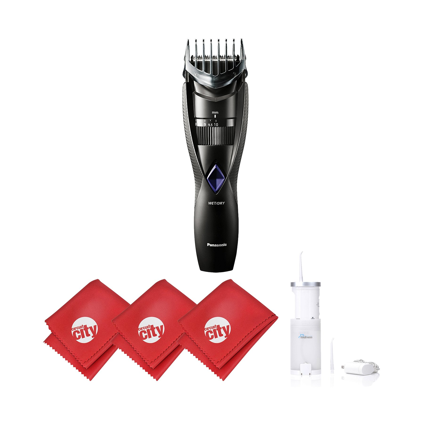 Panasonic Mens Wet/Dry Cordless Beard and Hair Trimmer with Sonic ...