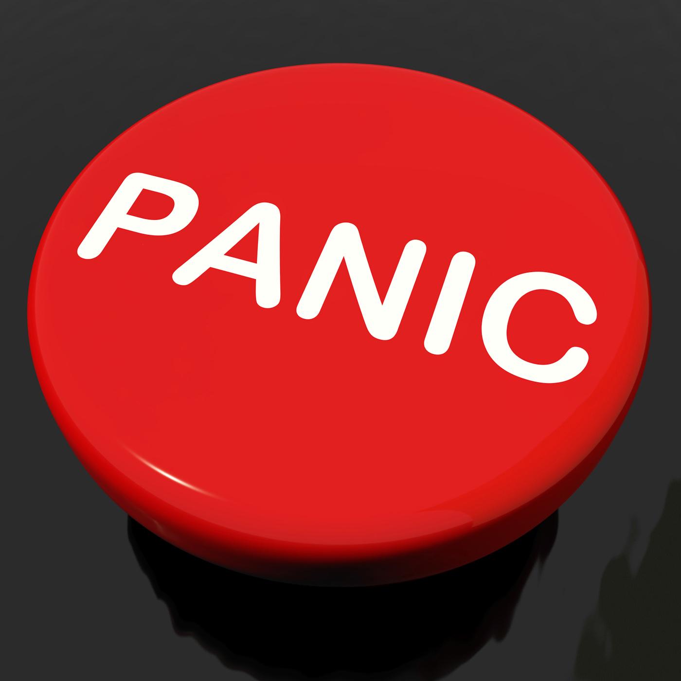 Panic button shows anxiety panicking distress photo