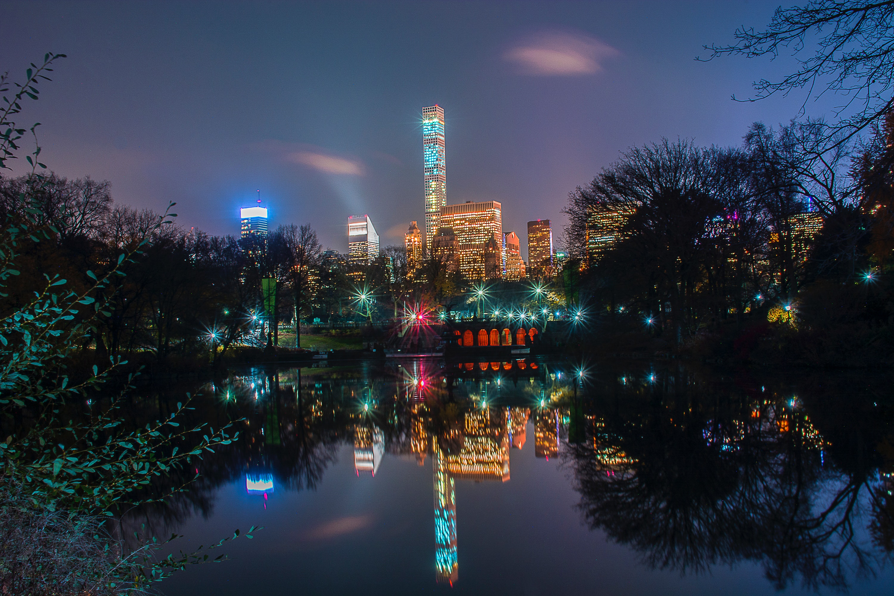 Panoramic Photo of City Skyline, Architecture, Trees, Travel, Tower, HQ Photo