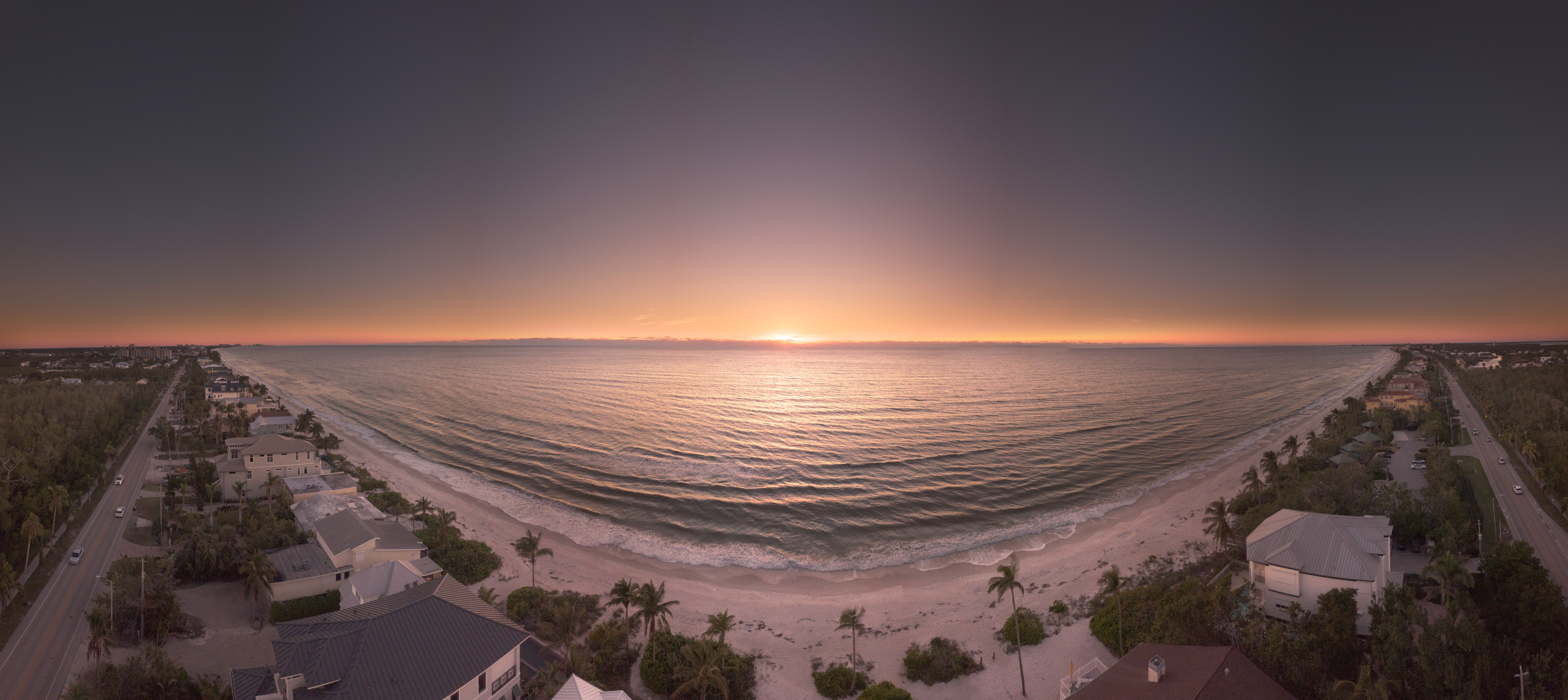 Panoramic Photography of Beach during Golden Hour, Beach, Seascape, Water, Vacation, HQ Photo