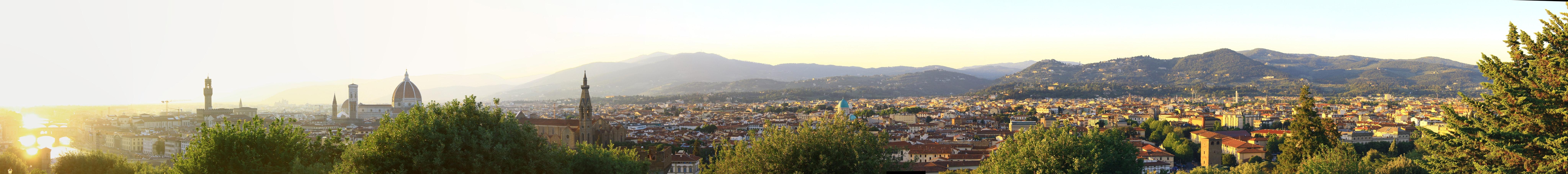 Panoramic shot of city photo
