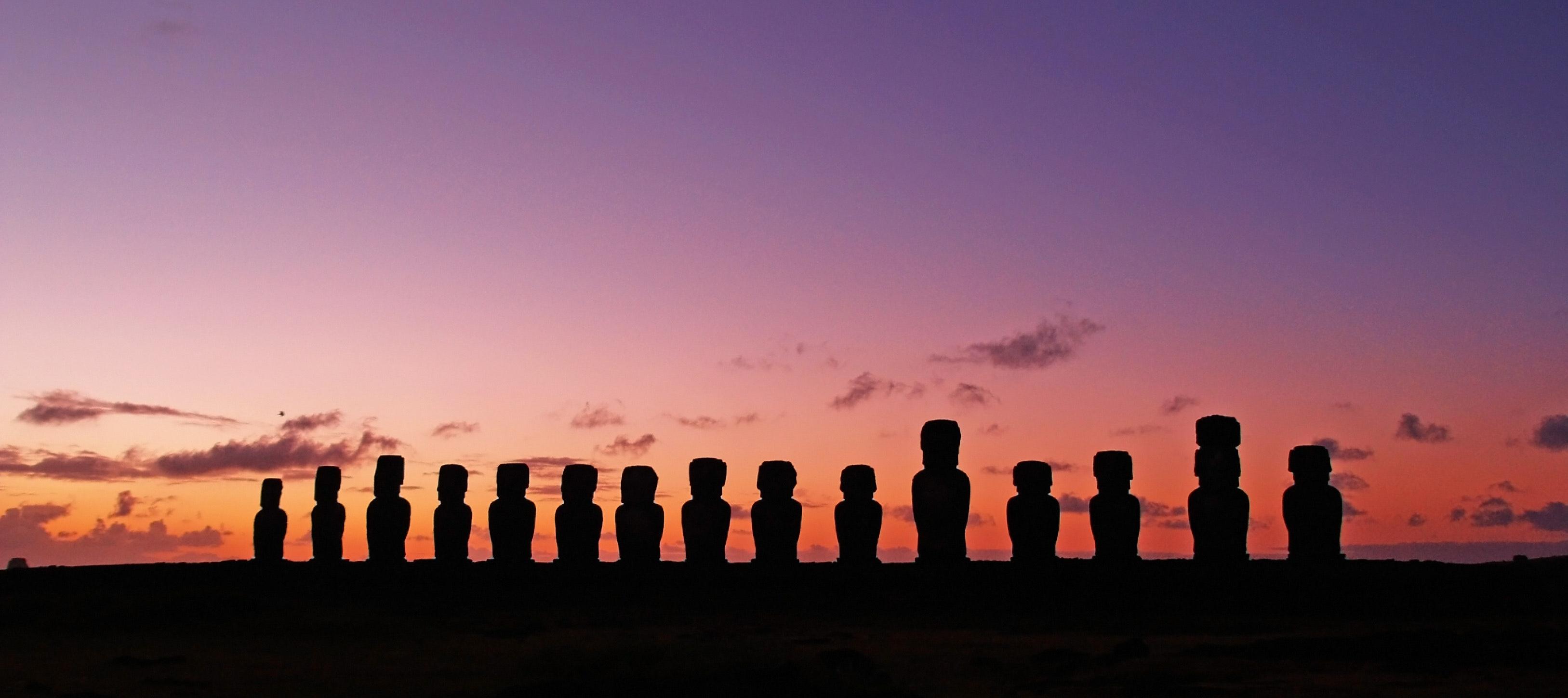 Panoramic shot of sunset photo