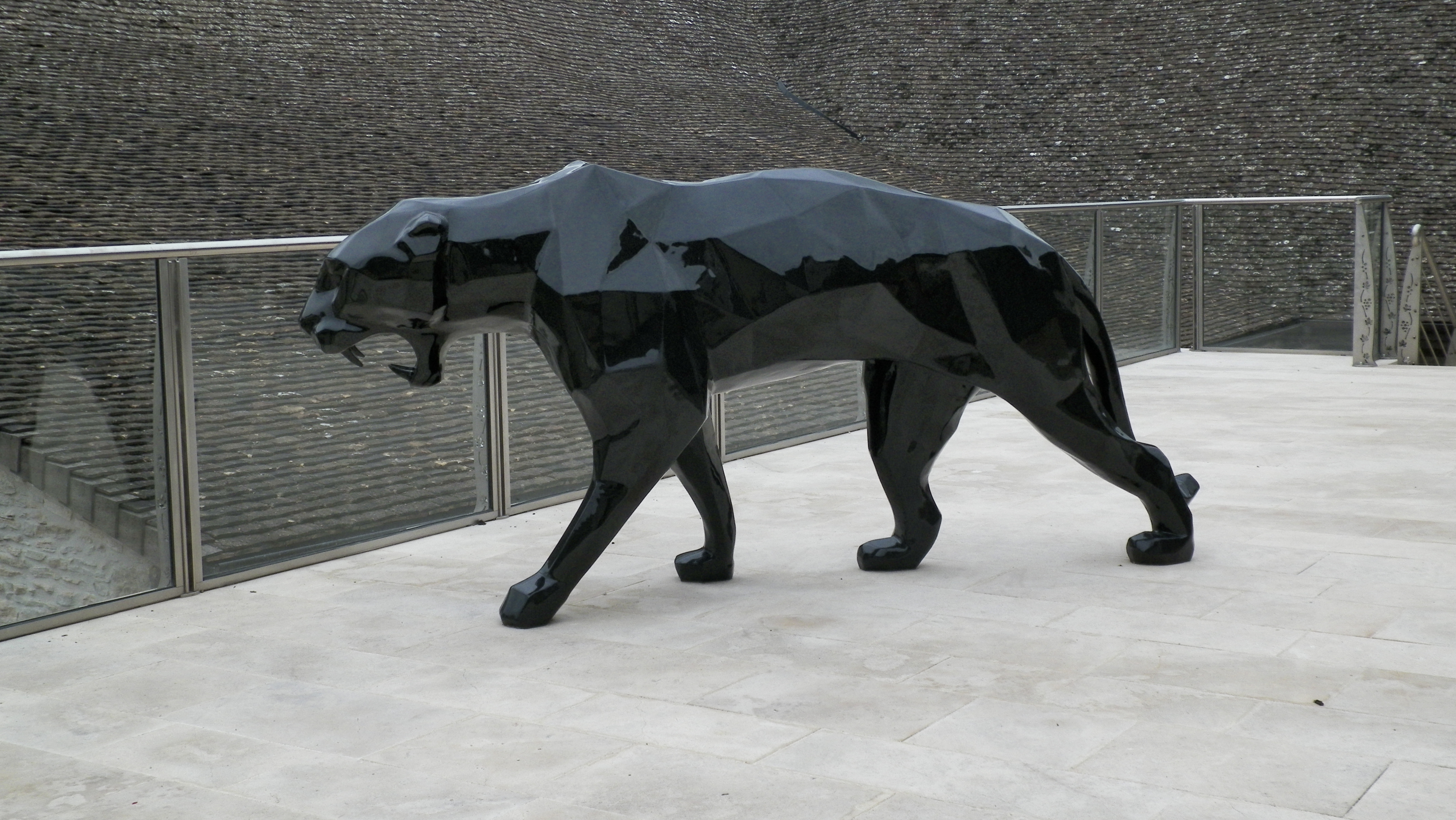 Panther statue, Statue, Panther, Black, HQ Photo