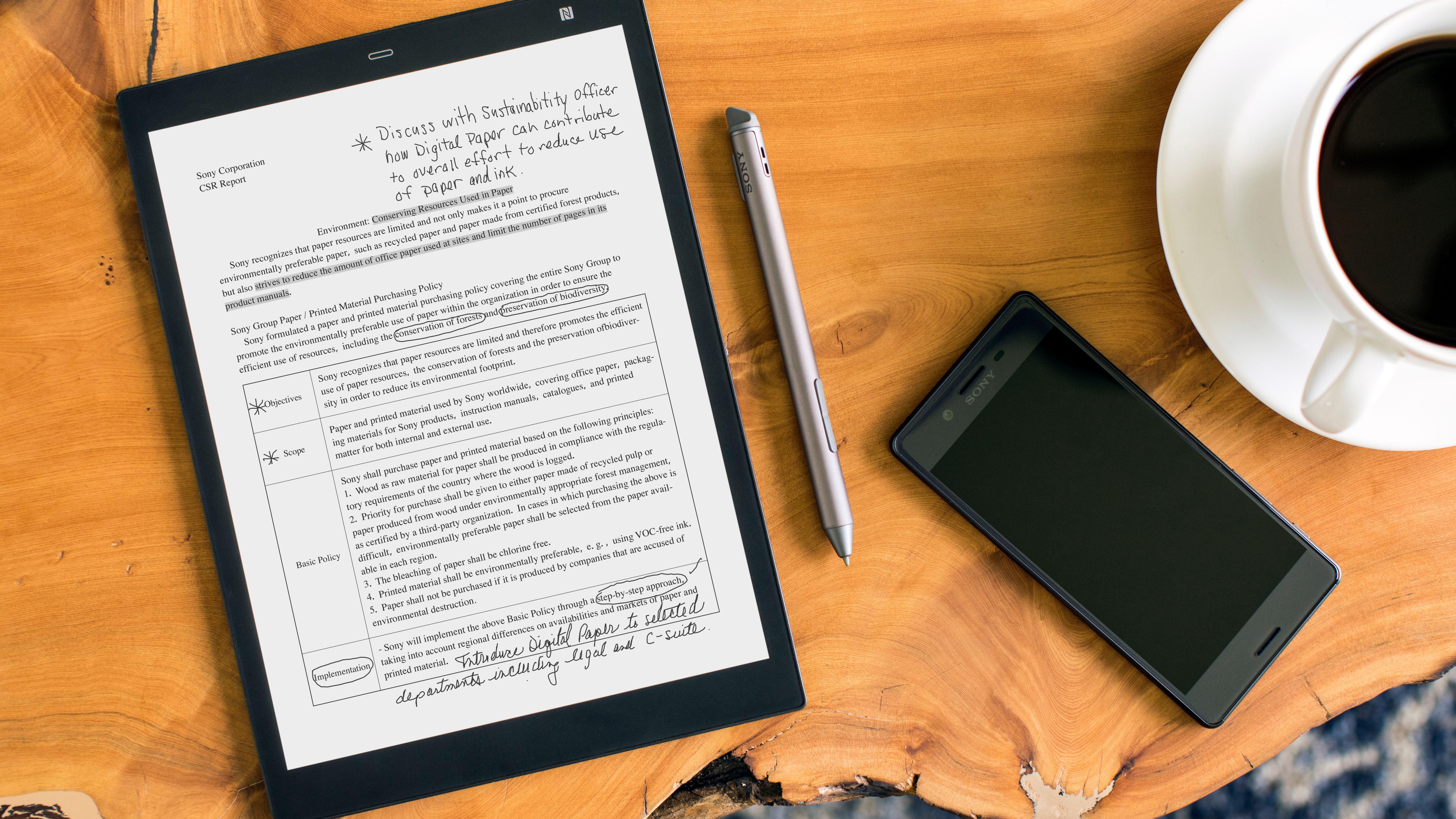 Sony introduces the DPT-CP1 digital paper tablet—does it do enough ...