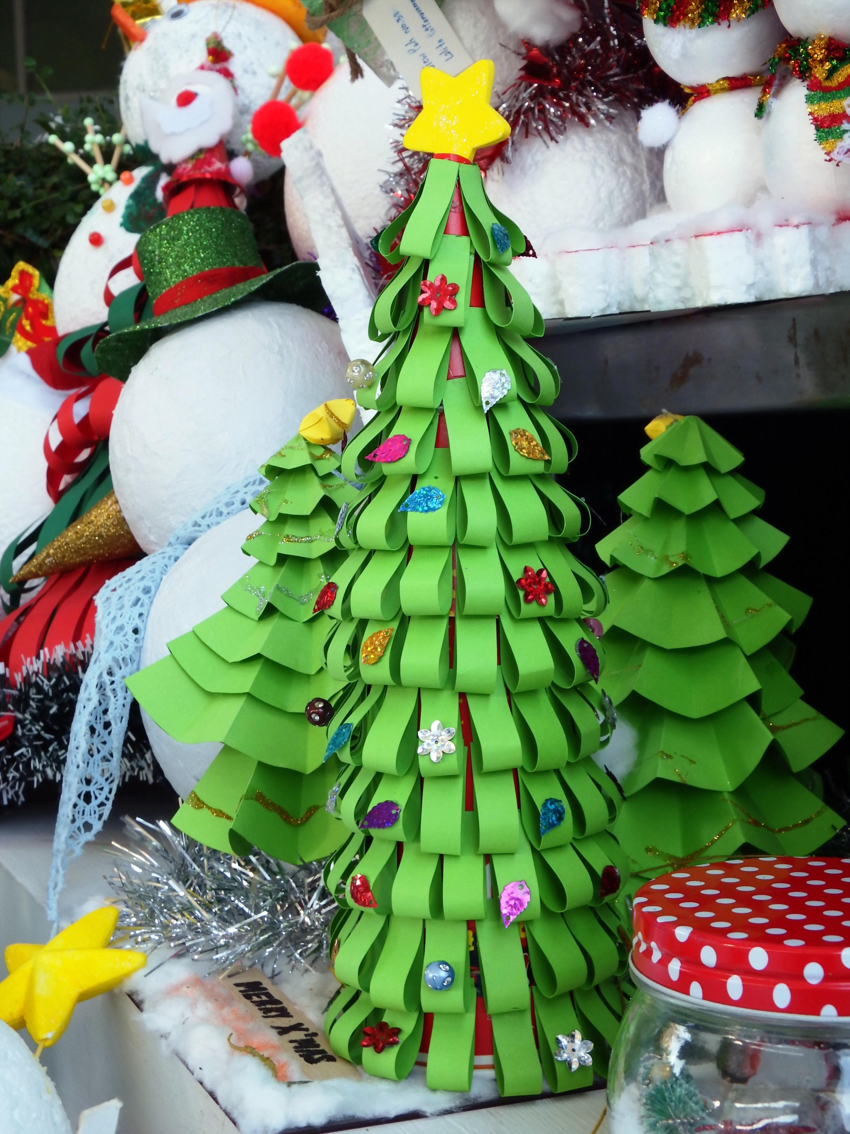 Paper craft Christmas tree, Cotton, Cottonwool, Craft, Decoration, HQ Photo