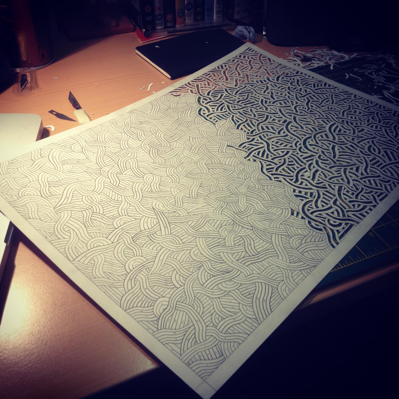 papercutting – Amy Fulford illustration