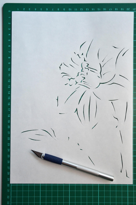 Paper cutting process, Art, Papercut, Minimal, Minimalistic, HQ Photo