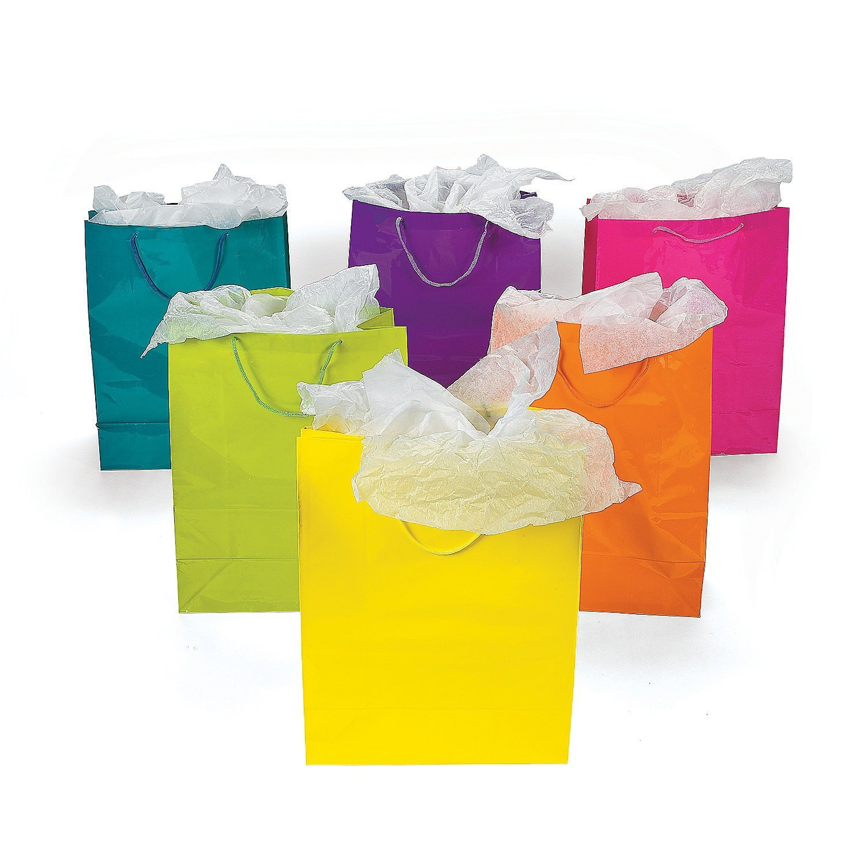 Yellow gift bag photo