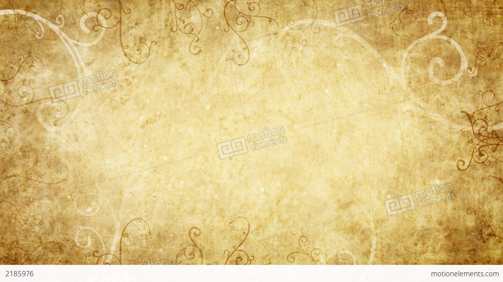 Yellow Retro Flourishes Frame Loop Background Stock Animation | 2185976
