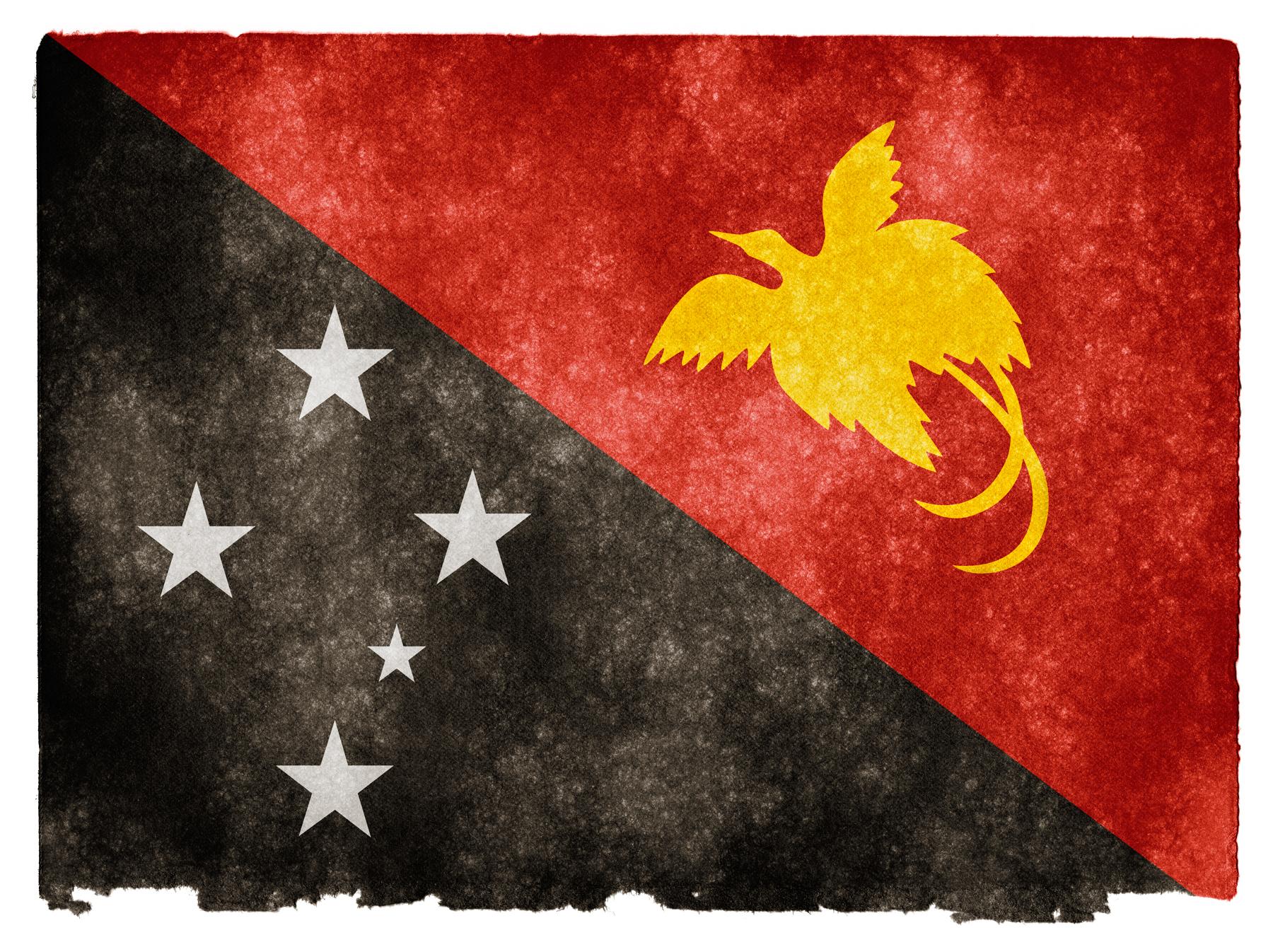 Papua new guinea grunge flag photo