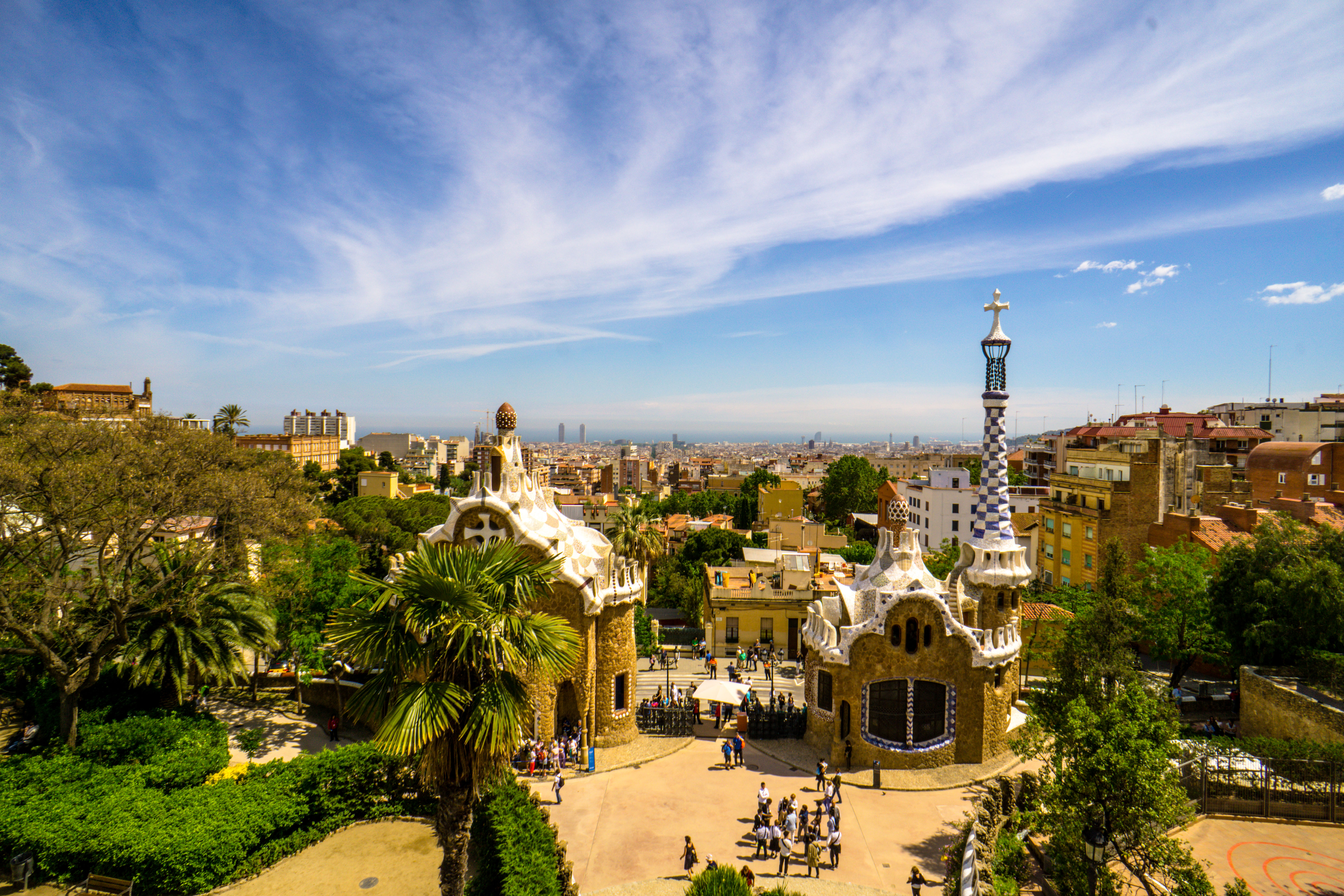 Parc Guell, Barcelona, Famous, Gaudi, Guell, HQ Photo