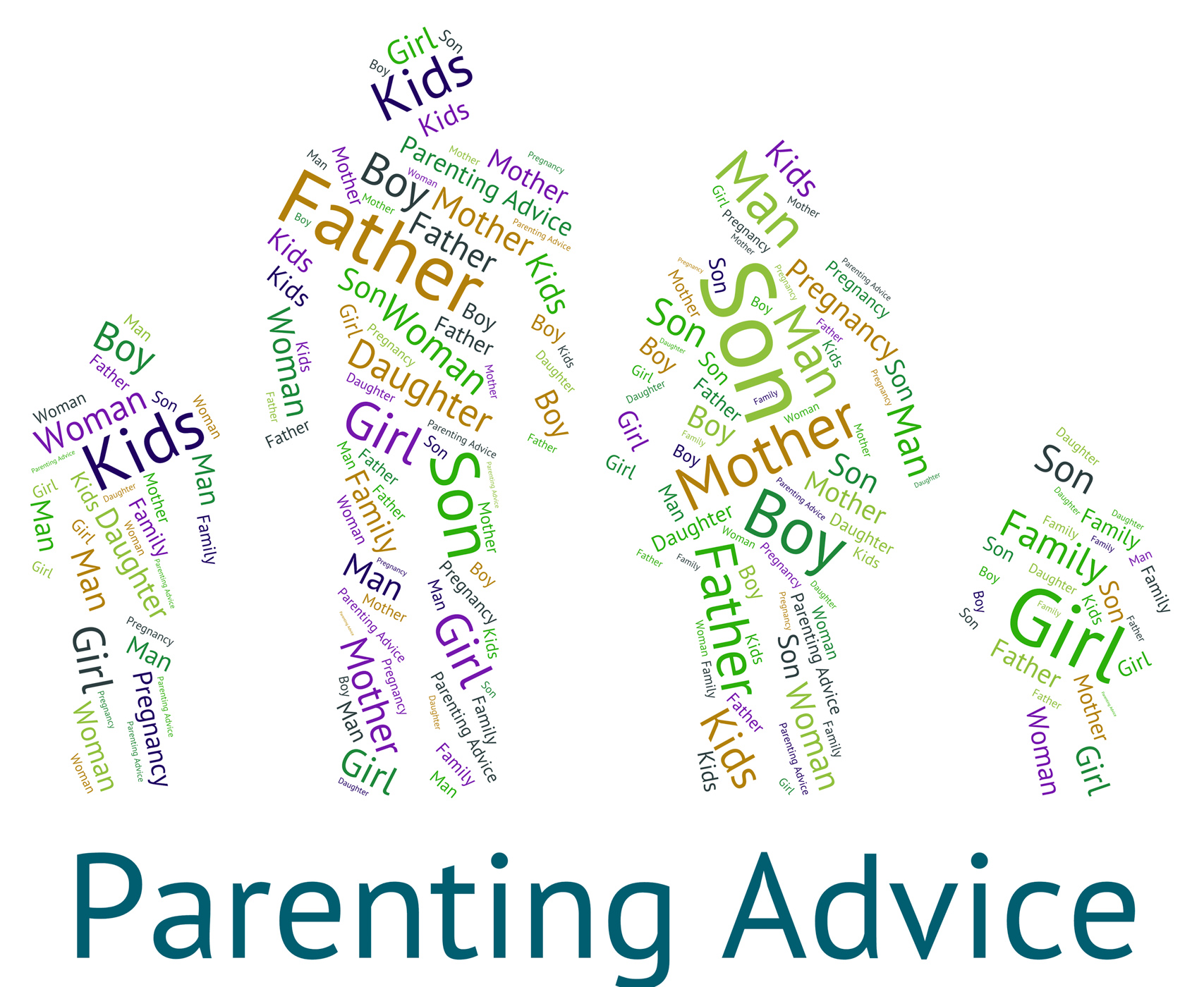 Parenting Advice Means Mother And Child And Tips, Advice, Motherandbaby, Wordcloud, Word, HQ Photo