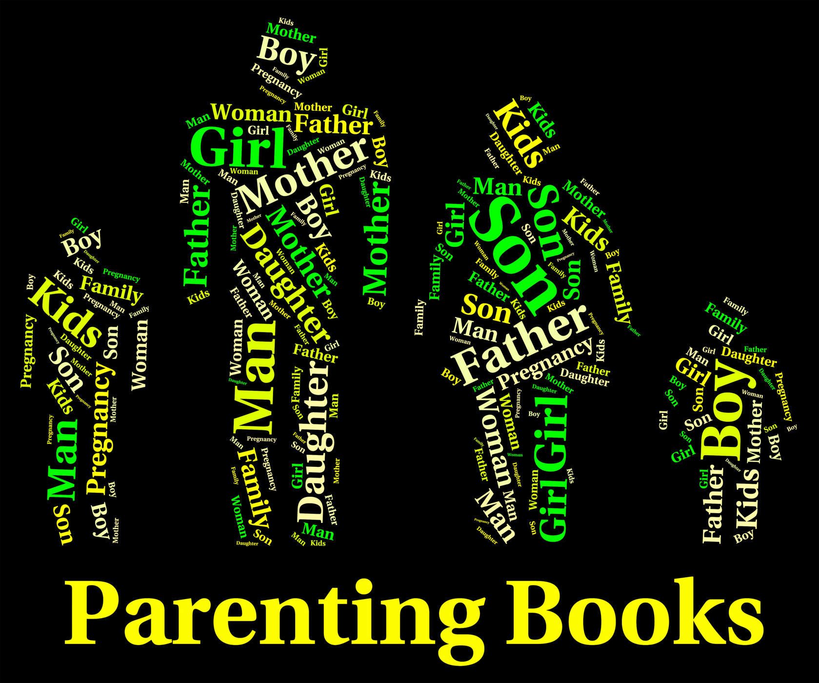 Parenting Books Indicates Mother And Child And Father, Child, Offspring, Wordcloud, Word, HQ Photo