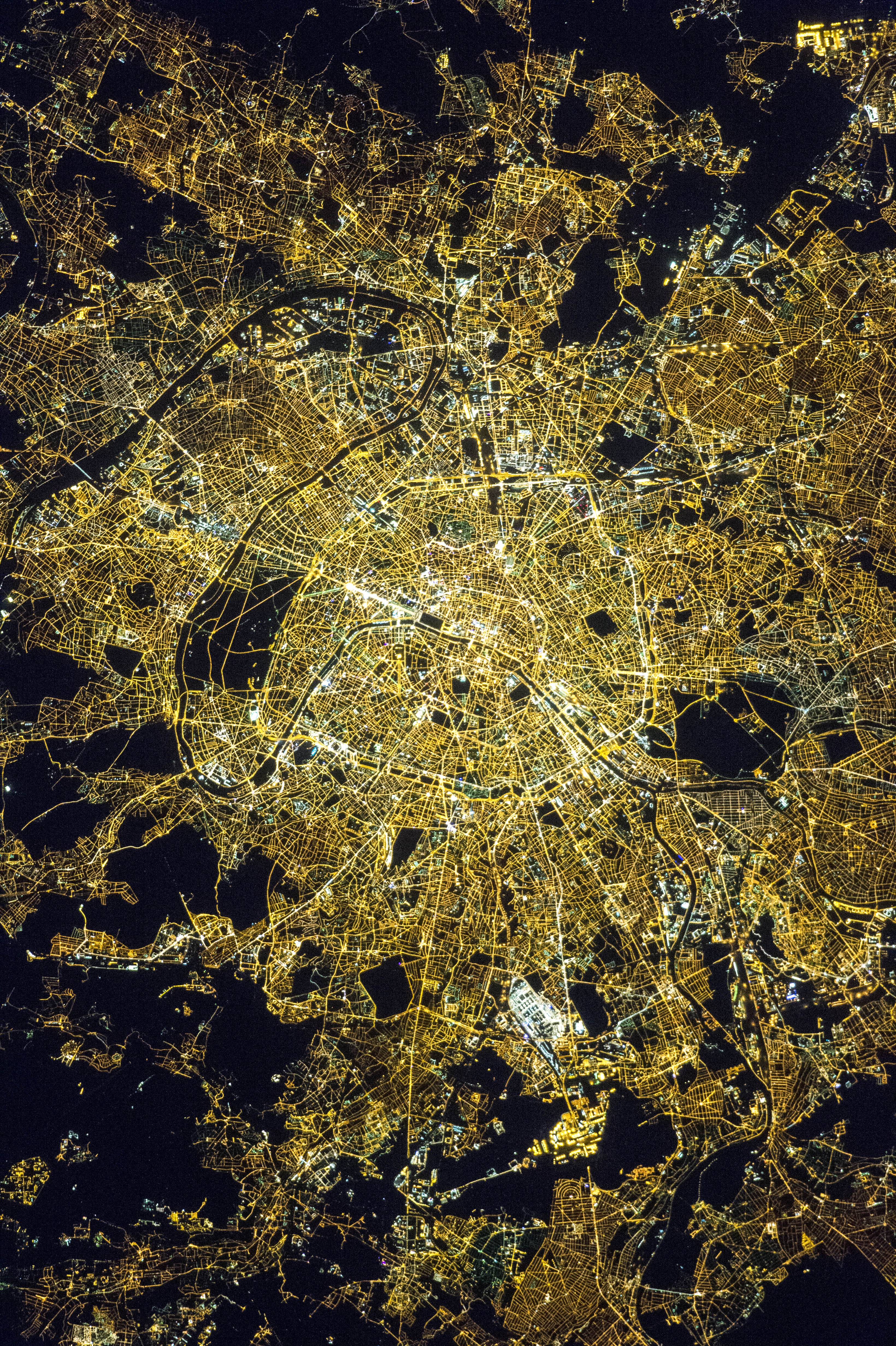 Paris from space photo
