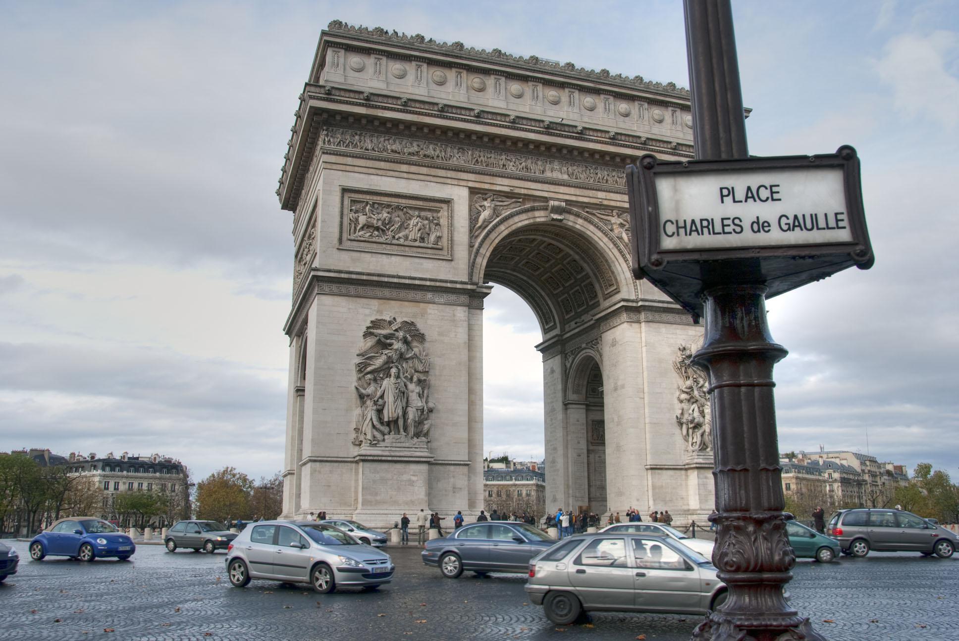 Paris in Winter, Arcdetriomphe, Night, Woman, Travel, HQ Photo