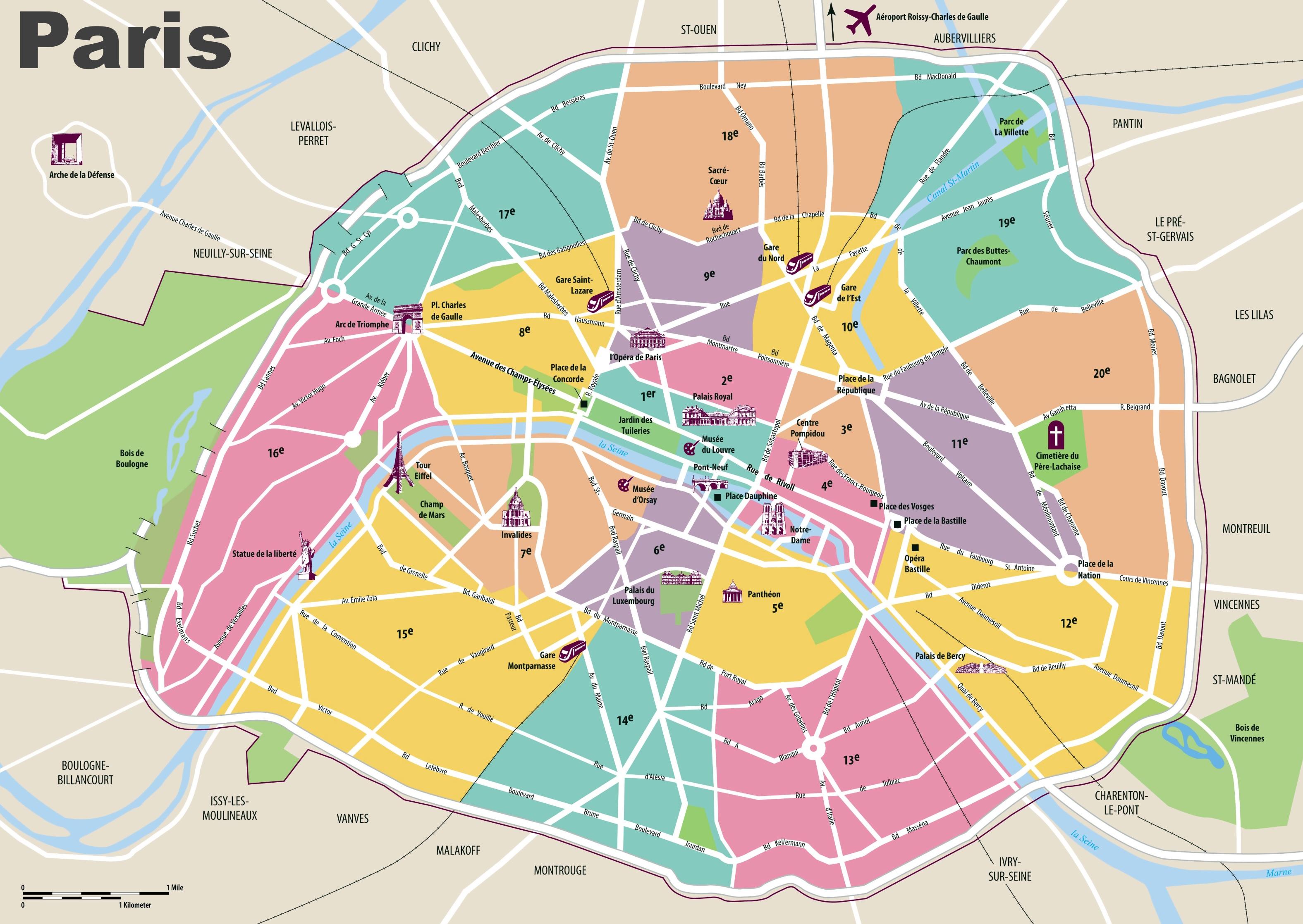 Paris Maps   France   Maps of Paris