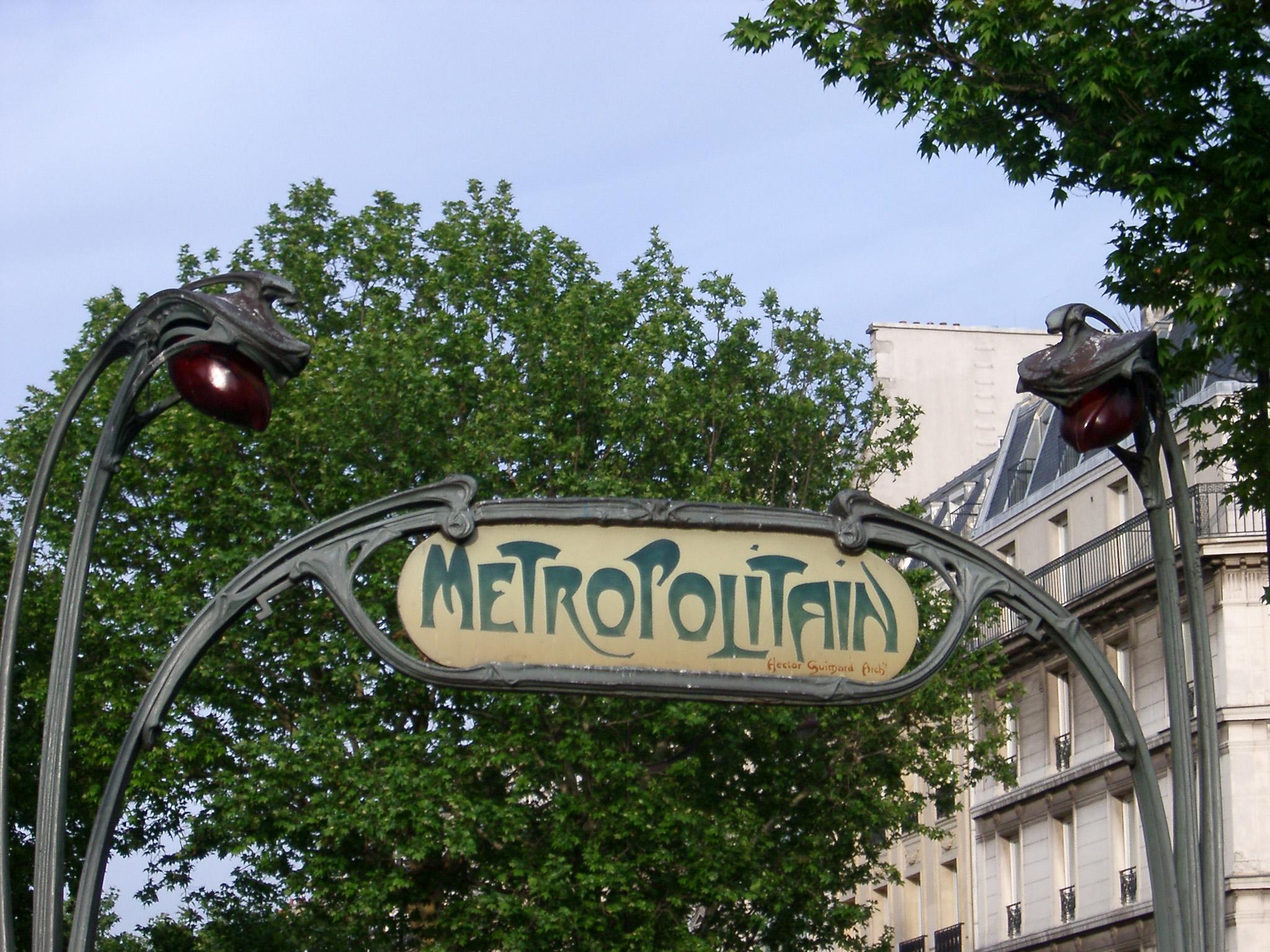 Free Stock photo of Art Deco Paris Metro sign | Photoeverywhere