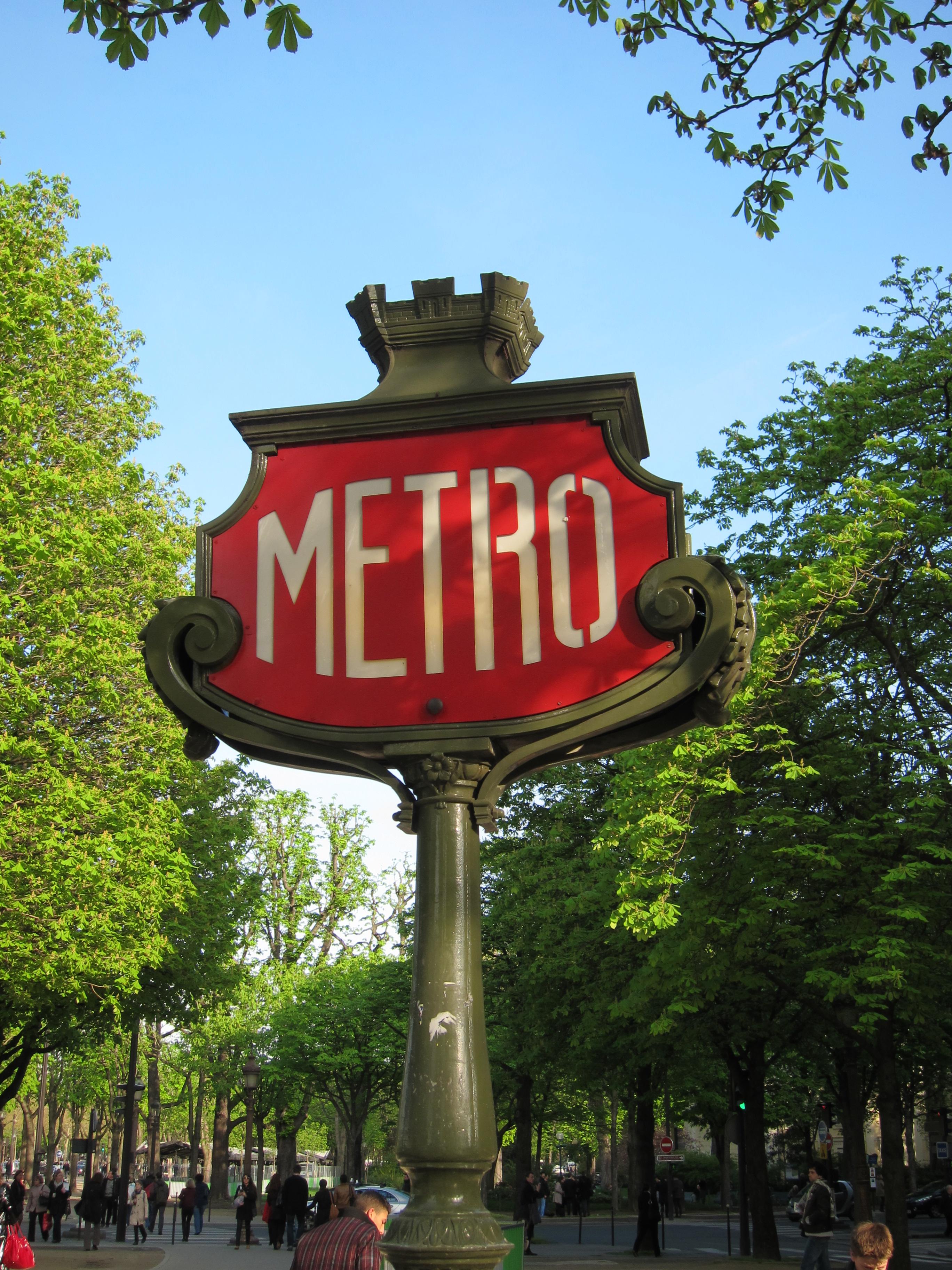 Paris Metro Sign, France, Metro, Paris, Sign, HQ Photo