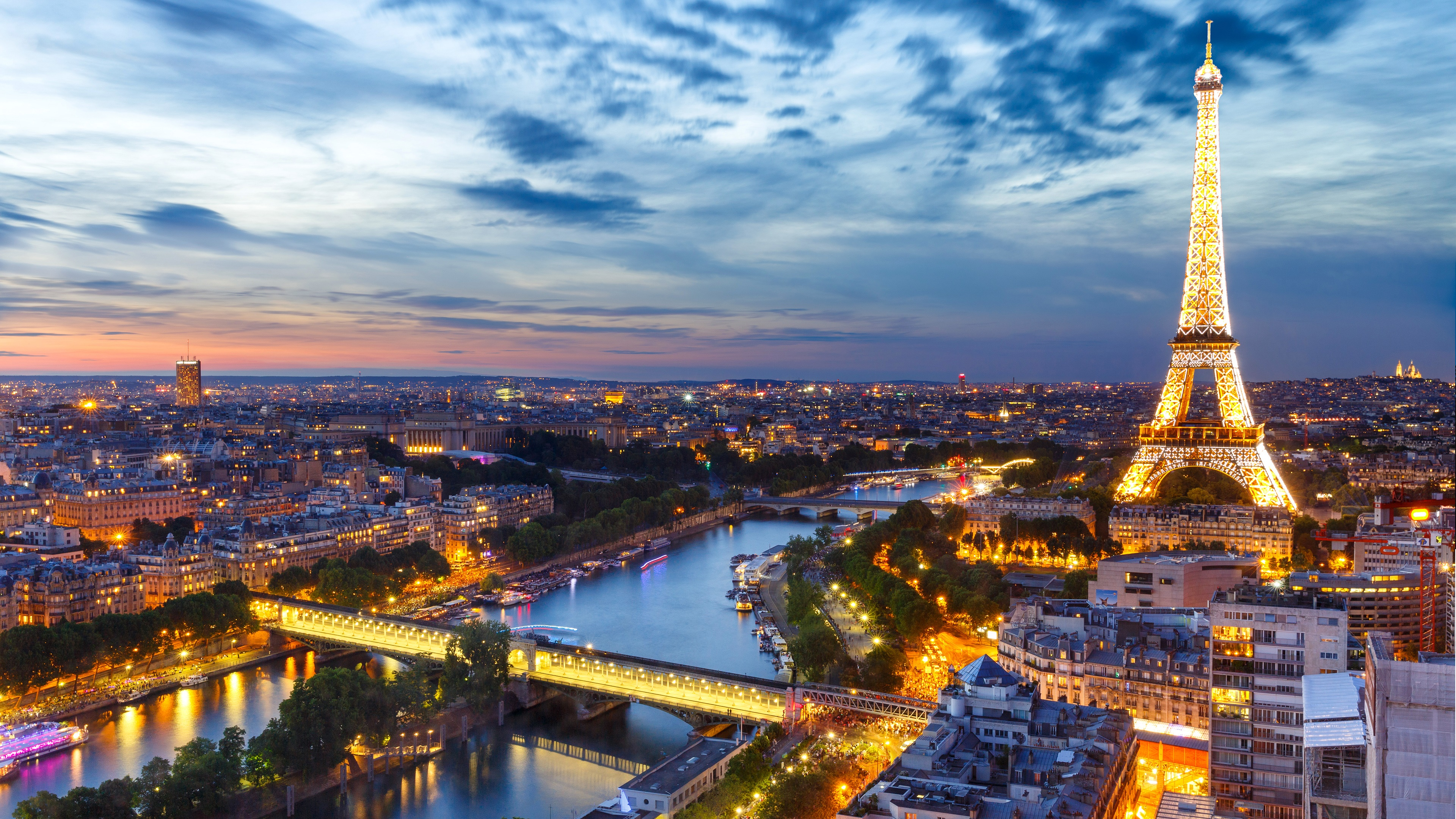 Eiffel Tower And Paris Skyline Wallpaper | Wallpaper Studio 10 ...