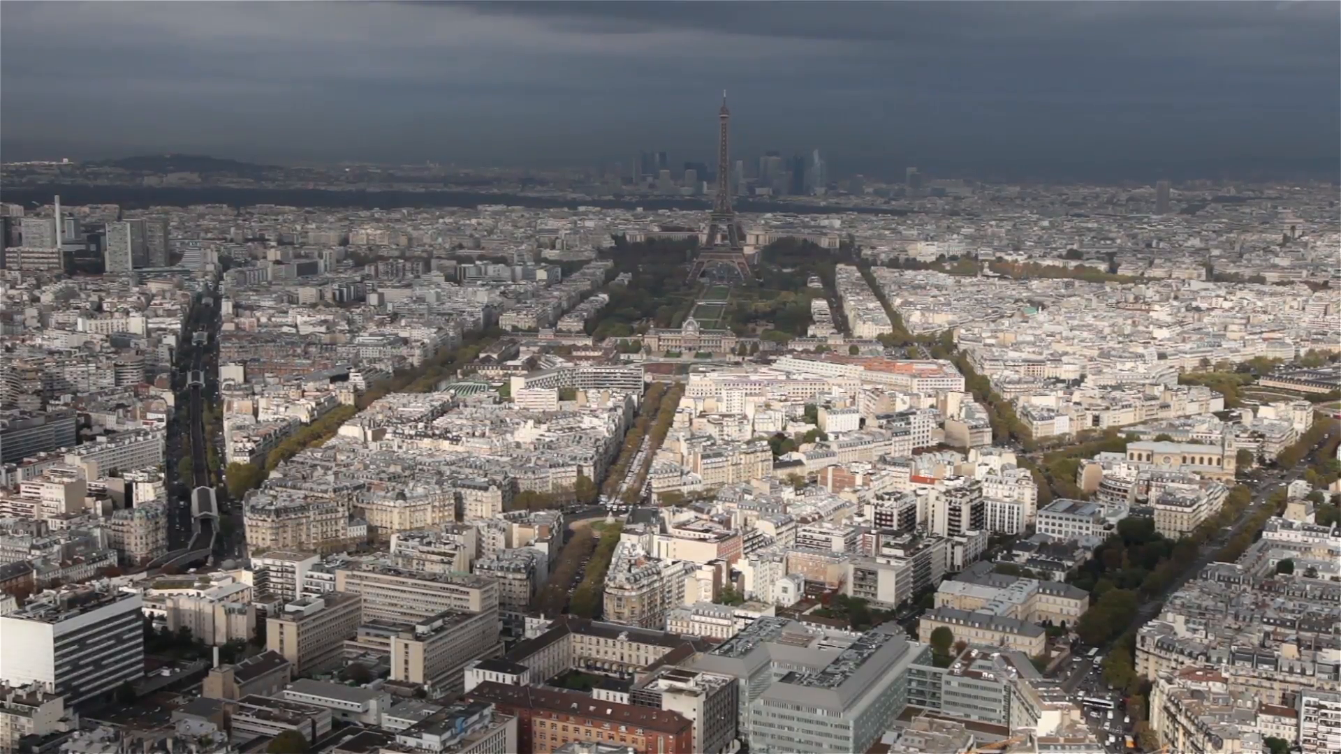 Paris skyline France Eiffel Tower Stock Video Footage - VideoBlocks