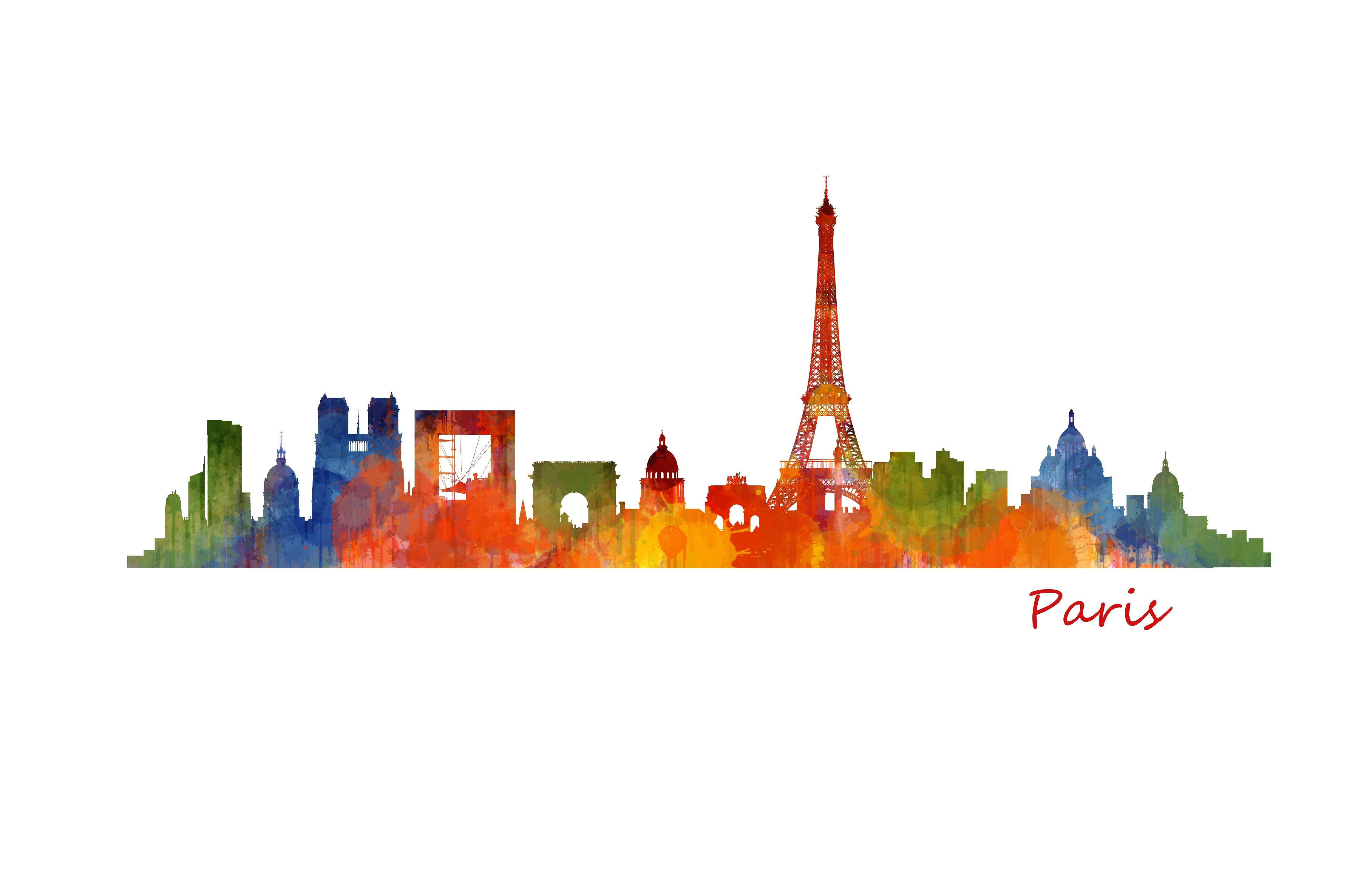 Paris Cityscape Skyline ~ Illustrations ~ Creative Market