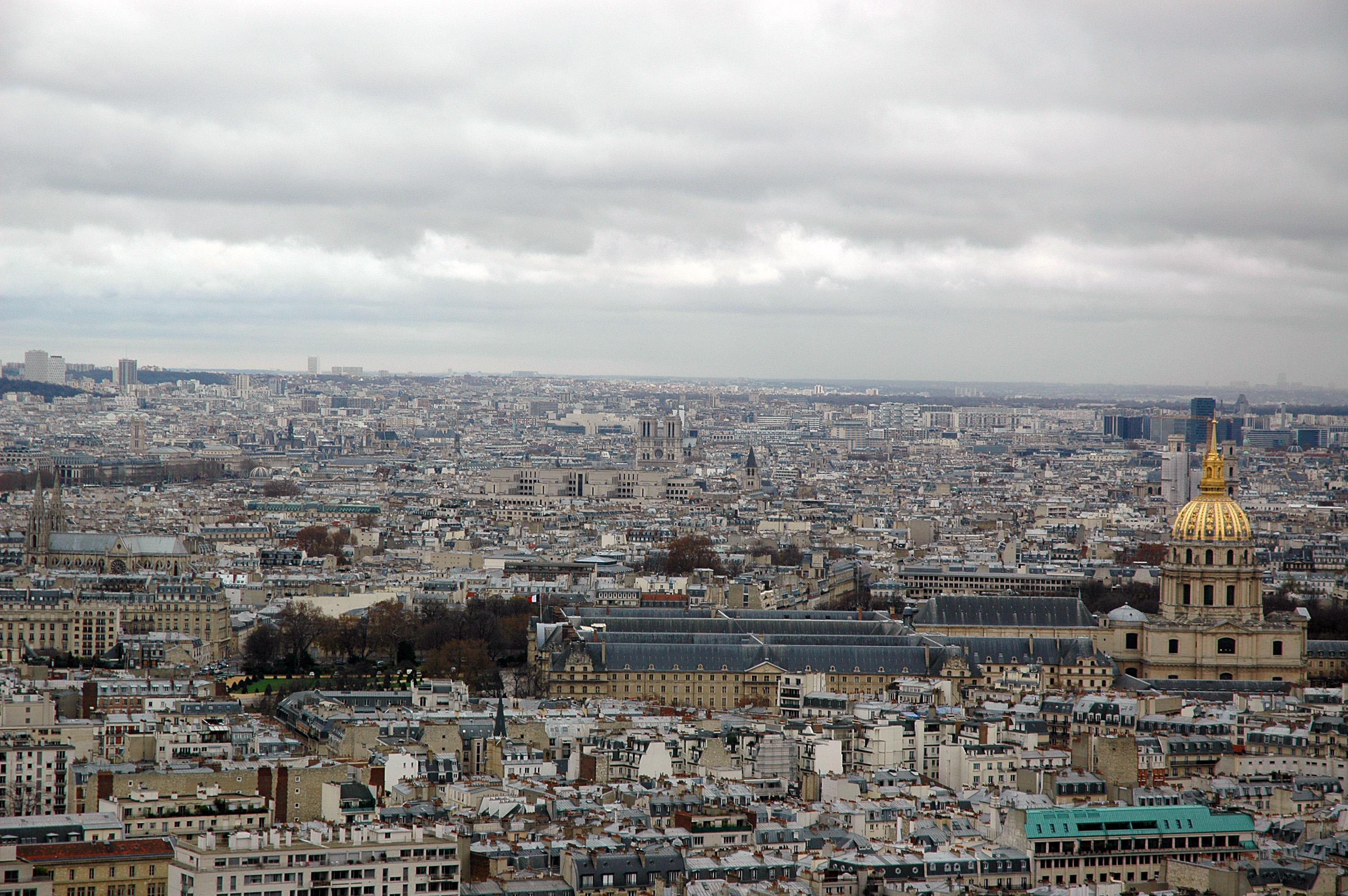 Paris Skyline, Buildings, City, Cityscape, Clouds, HQ Photo