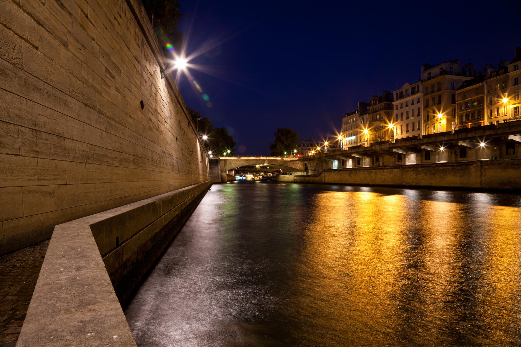Paris sur Seine Twilight, Black, Scenery, Paris, Paris-sur-seine, HQ Photo