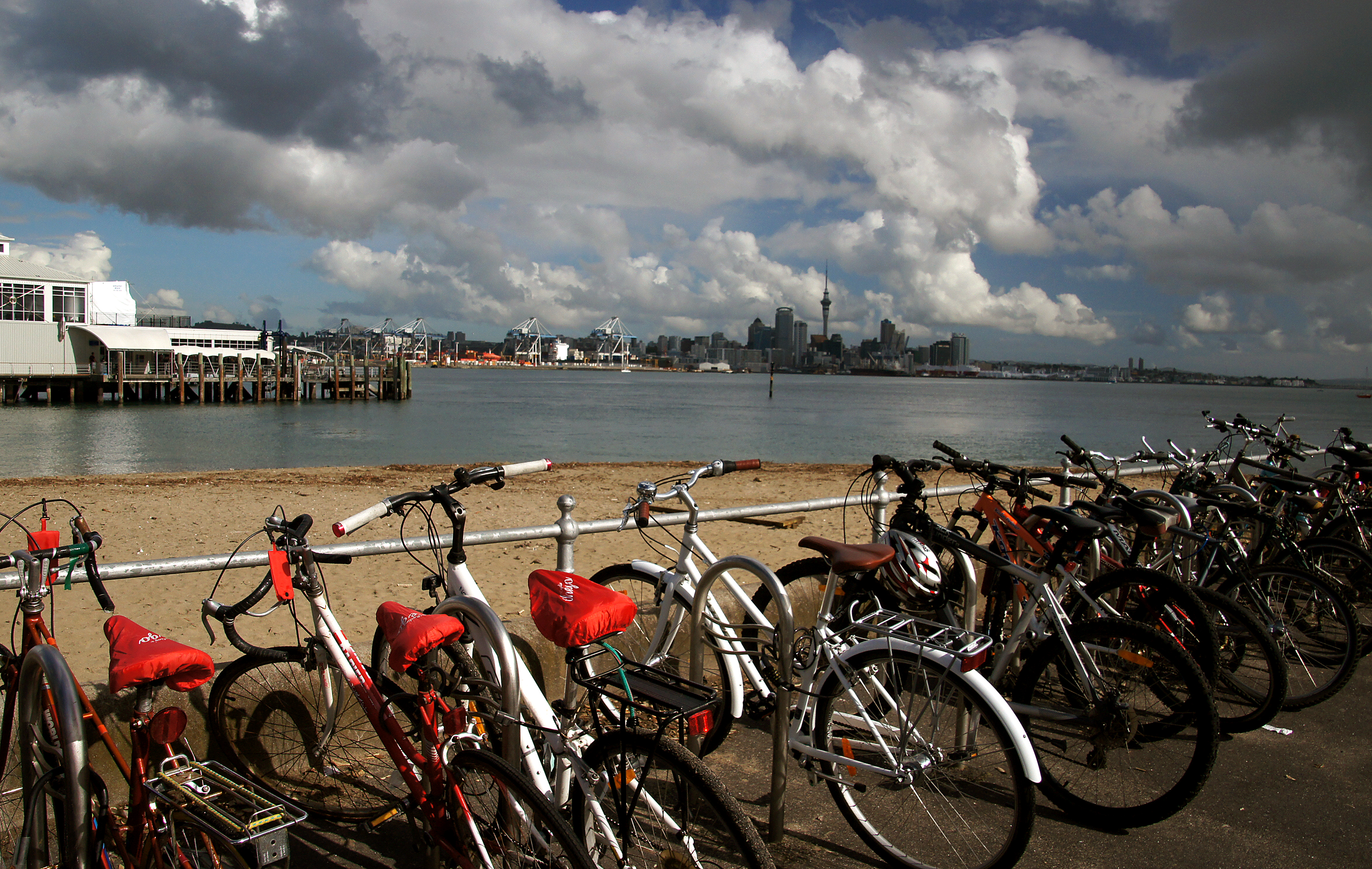 Park and ferry ride to auckland. photo