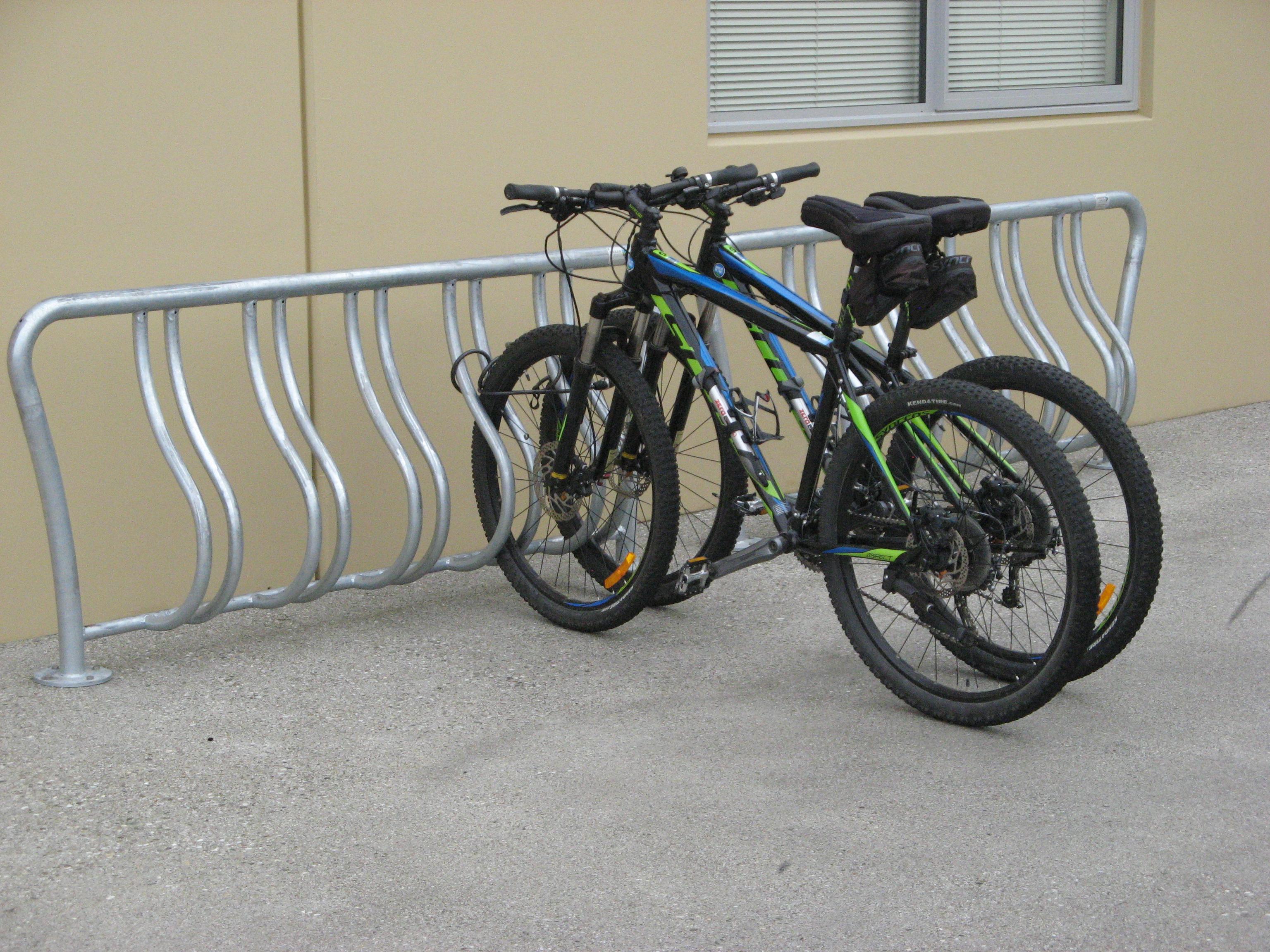Park bike rack photo