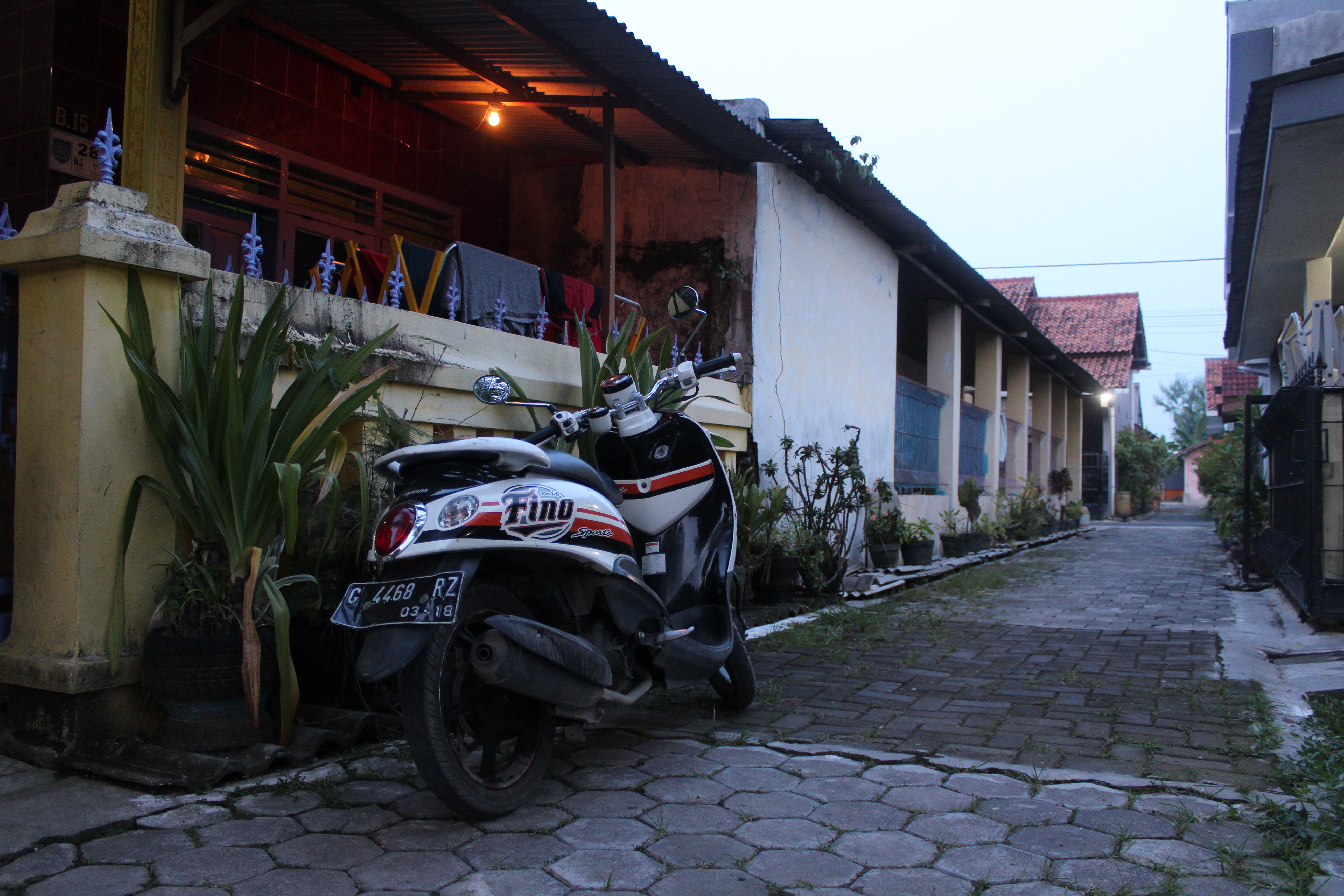 Parked fino motorcycle indonesia photo