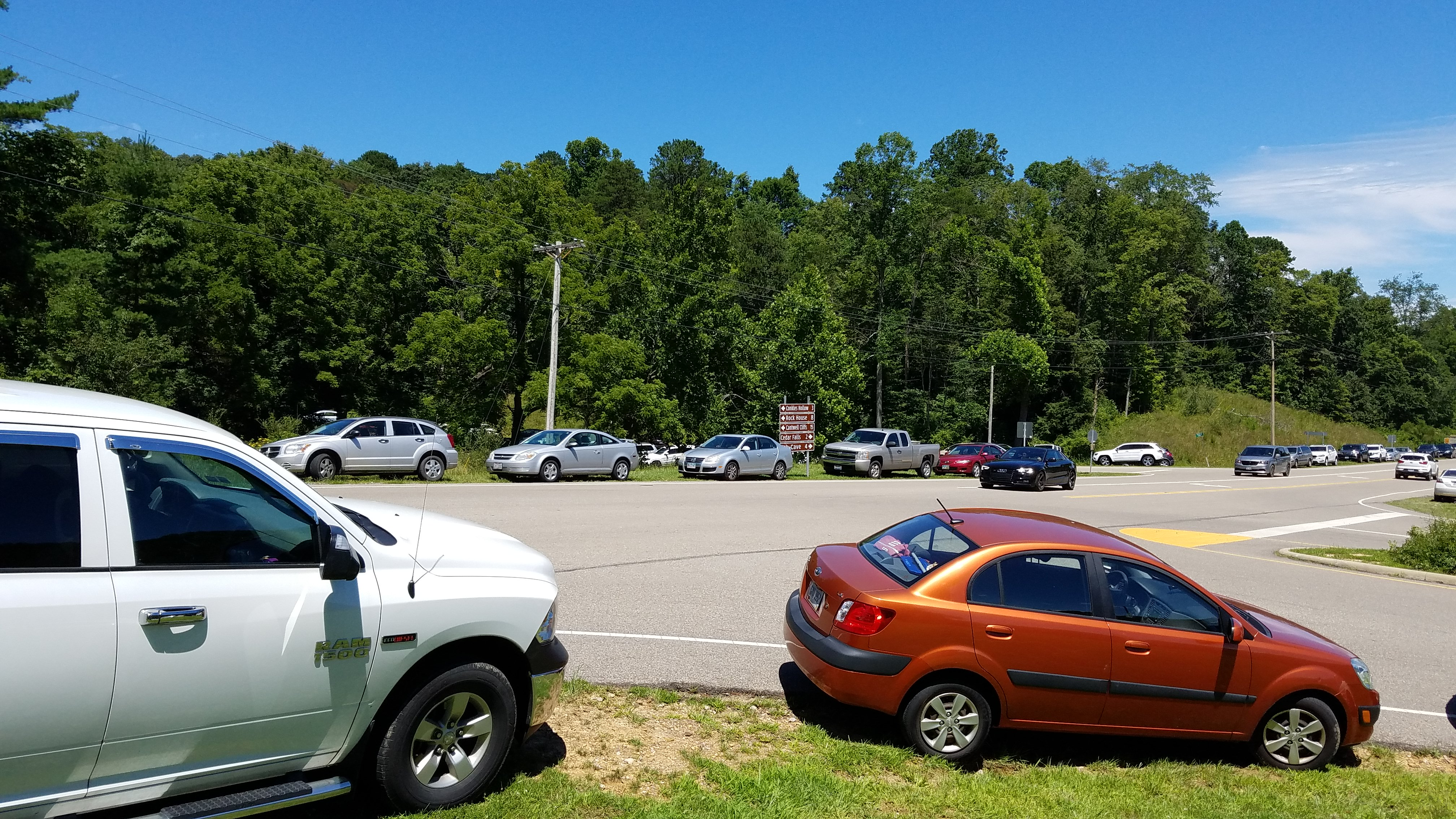Parking situation at old man's cave photo